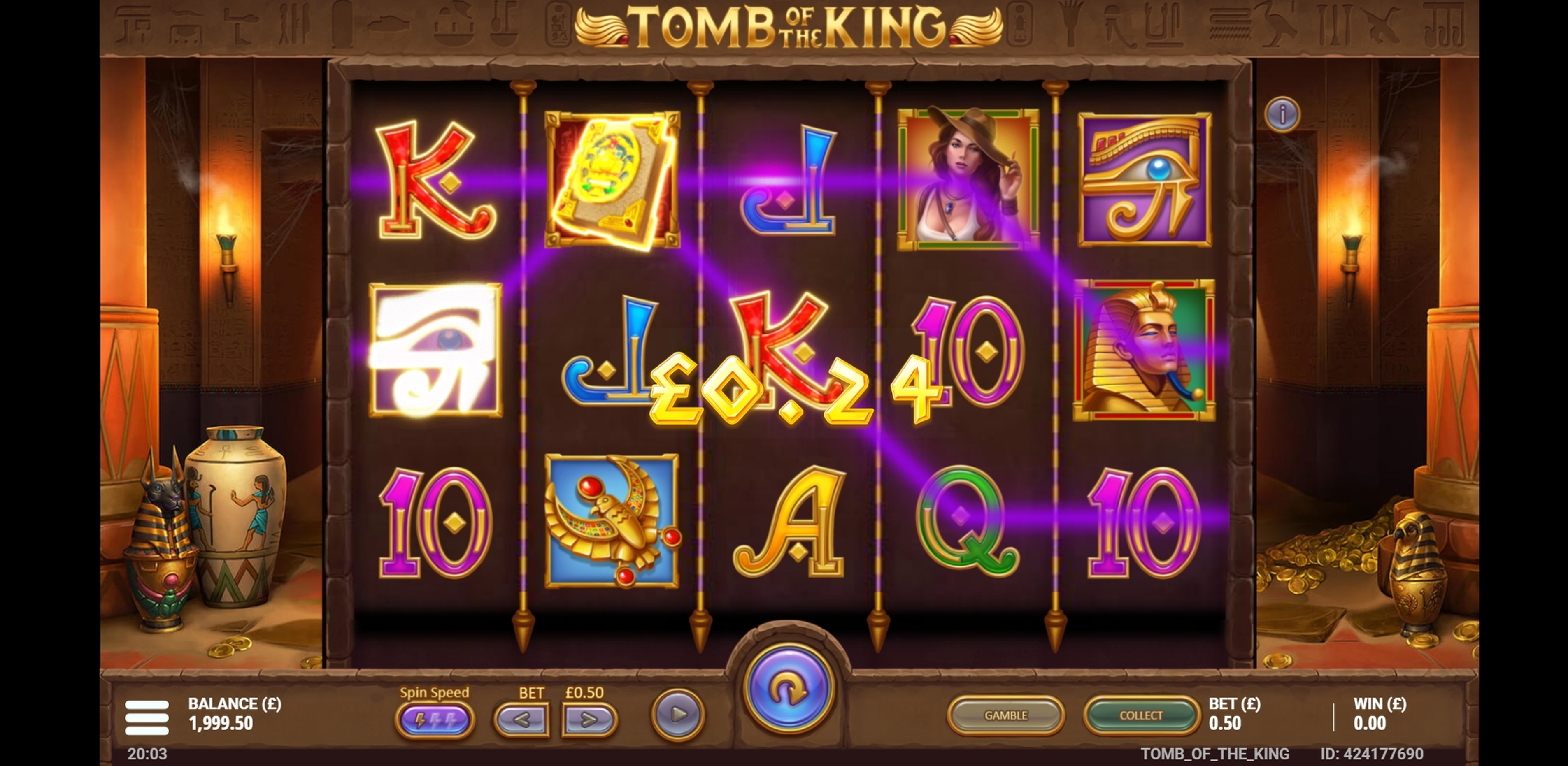 Win Money in Tomb of the King Free Slot Game by Gluck Games