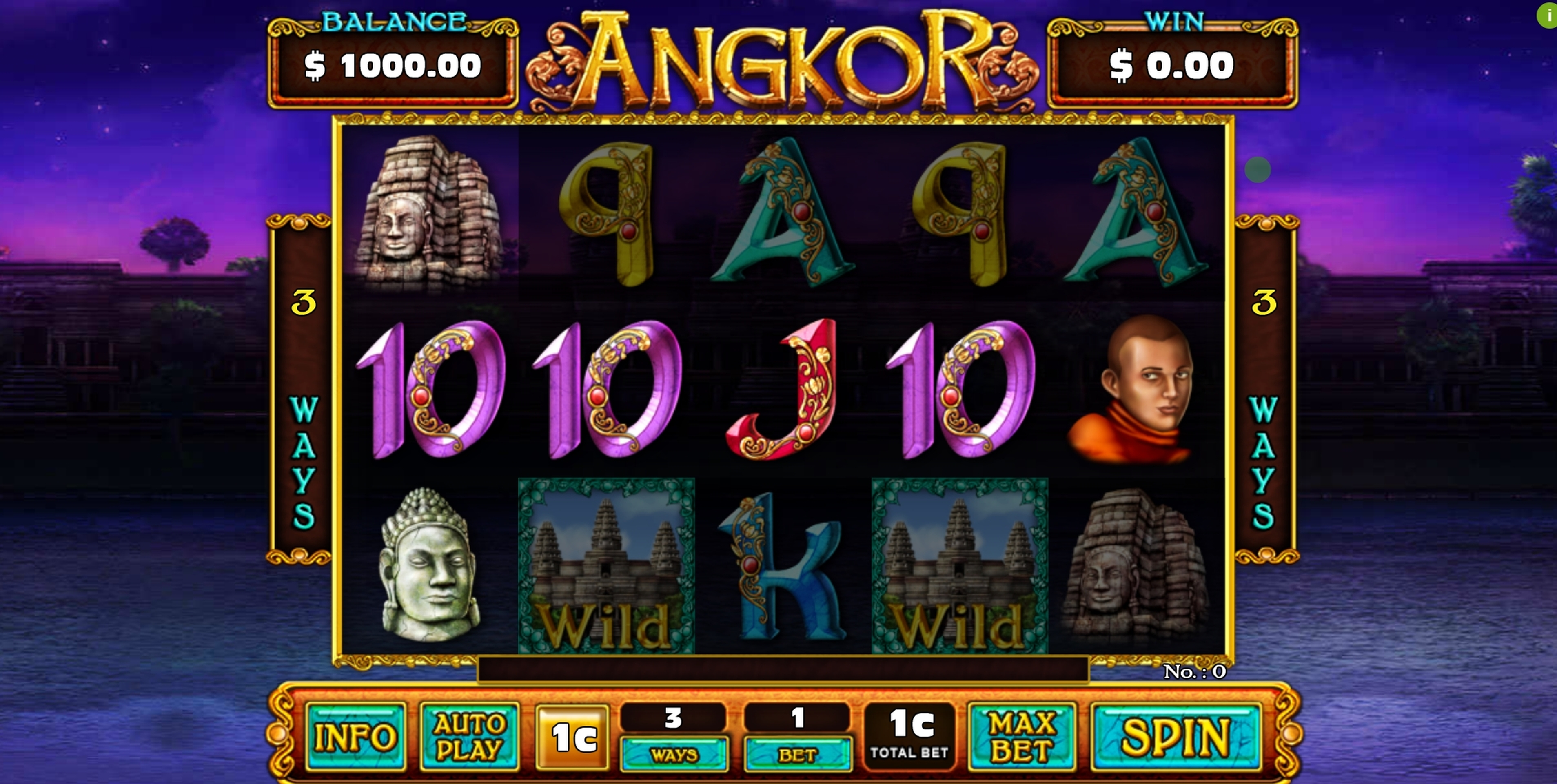 Reels in Angkor Slot Game by GMW