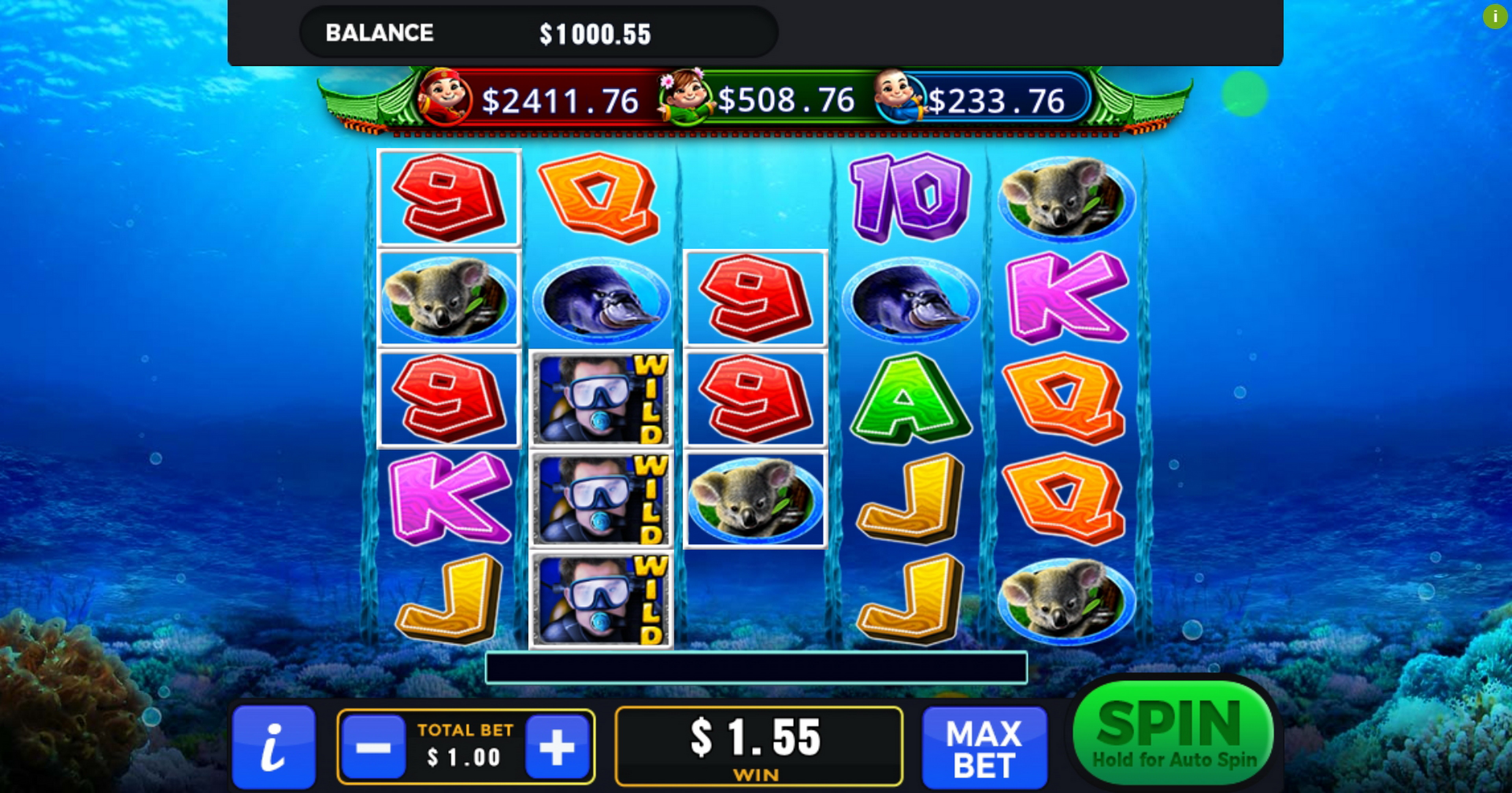Win Money in Down Under (GMW) Free Slot Game by GMW