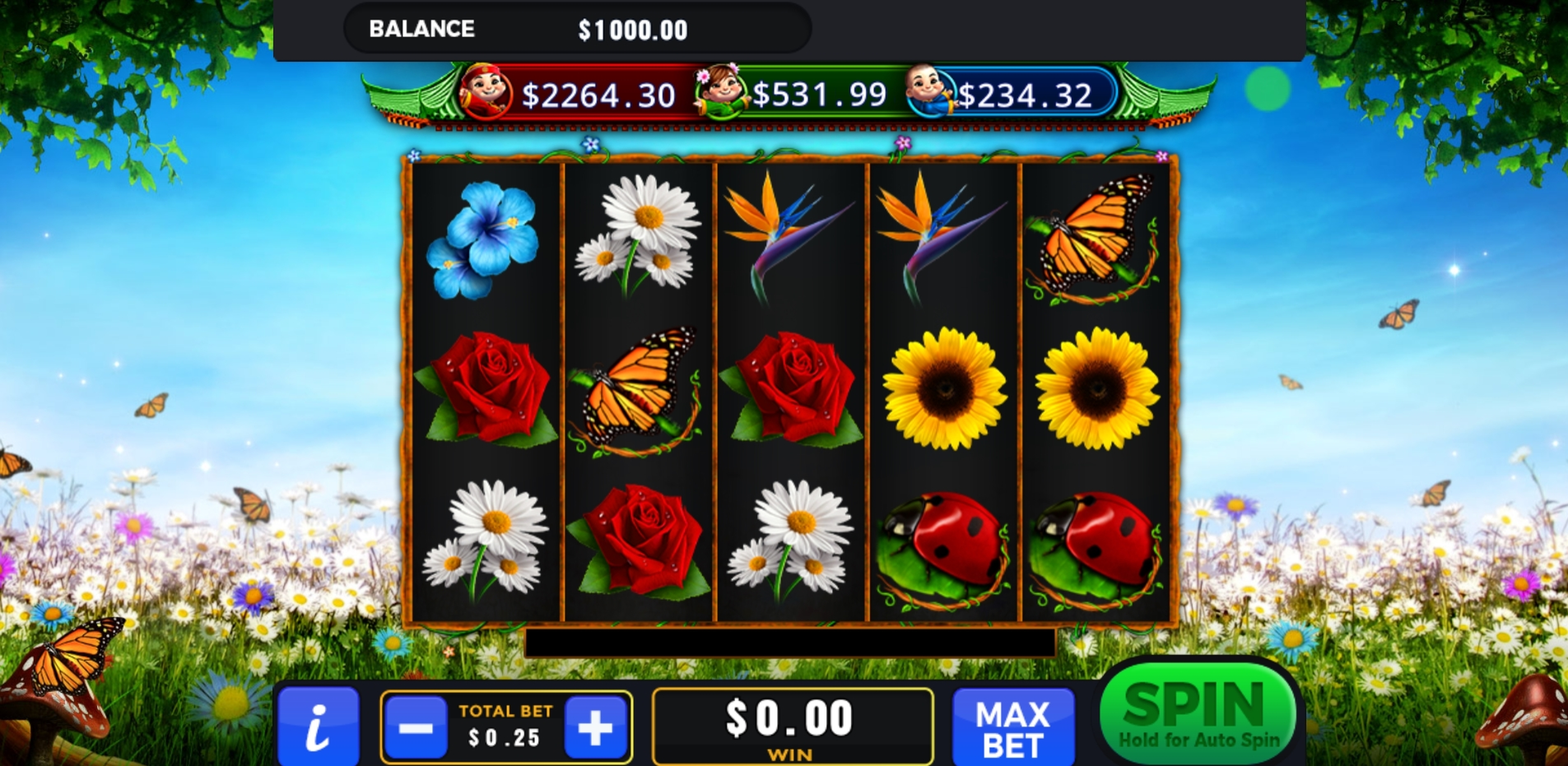 Reels in Fantasy Garden Slot Game by GMW