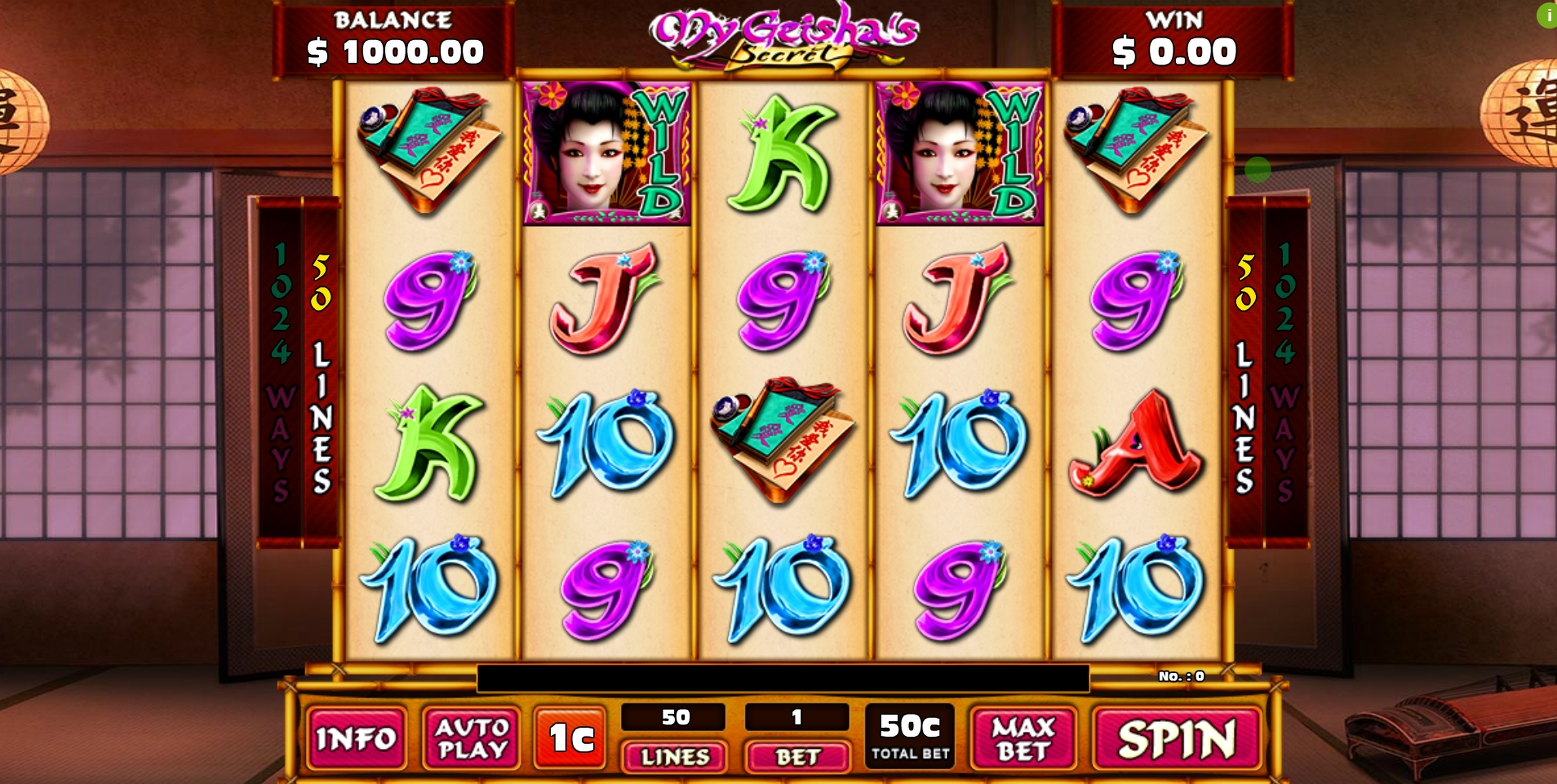 Reels in My Geisha's Secret Slot Game by GMW