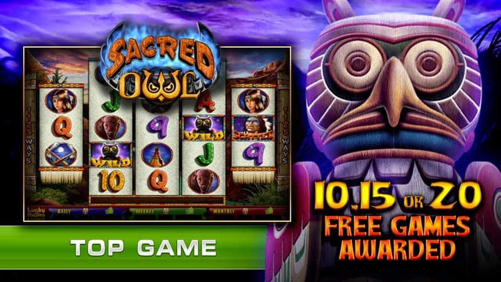The Sacred Owl Online Slot Demo Game by GMW