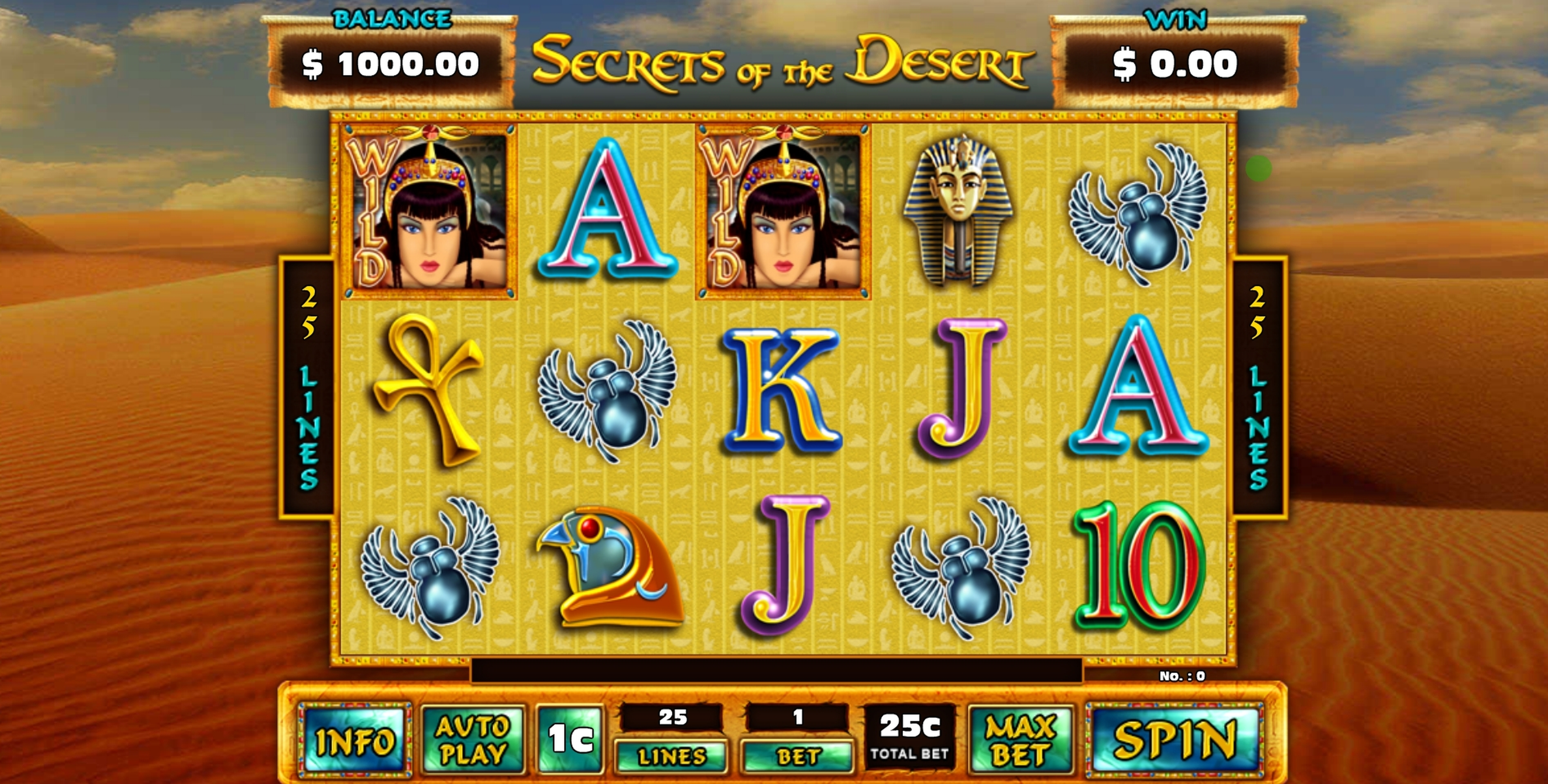 Reels in Secrets of the Desert Slot Game by GMW