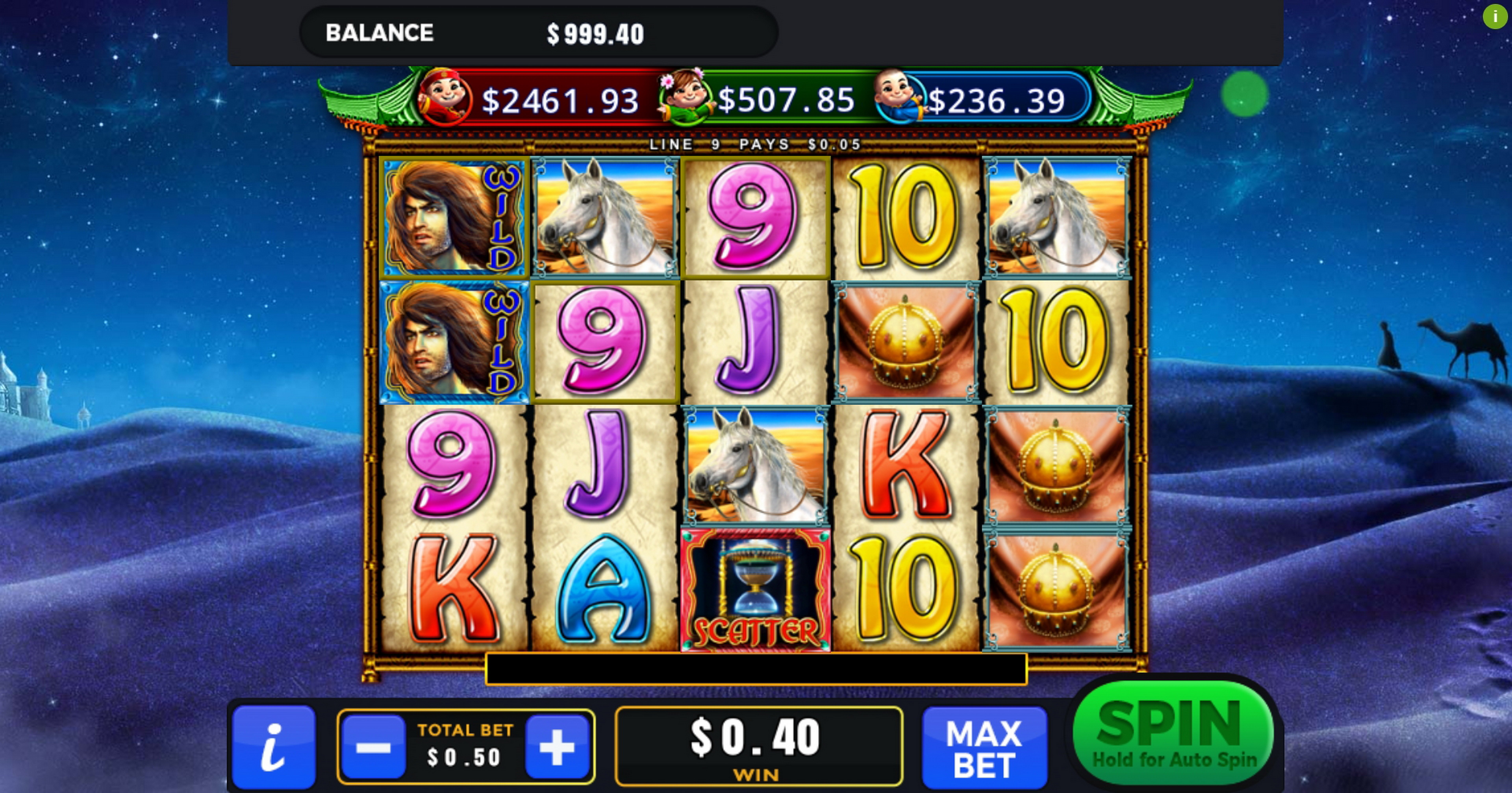 Win Money in Silken Sands Free Slot Game by GMW