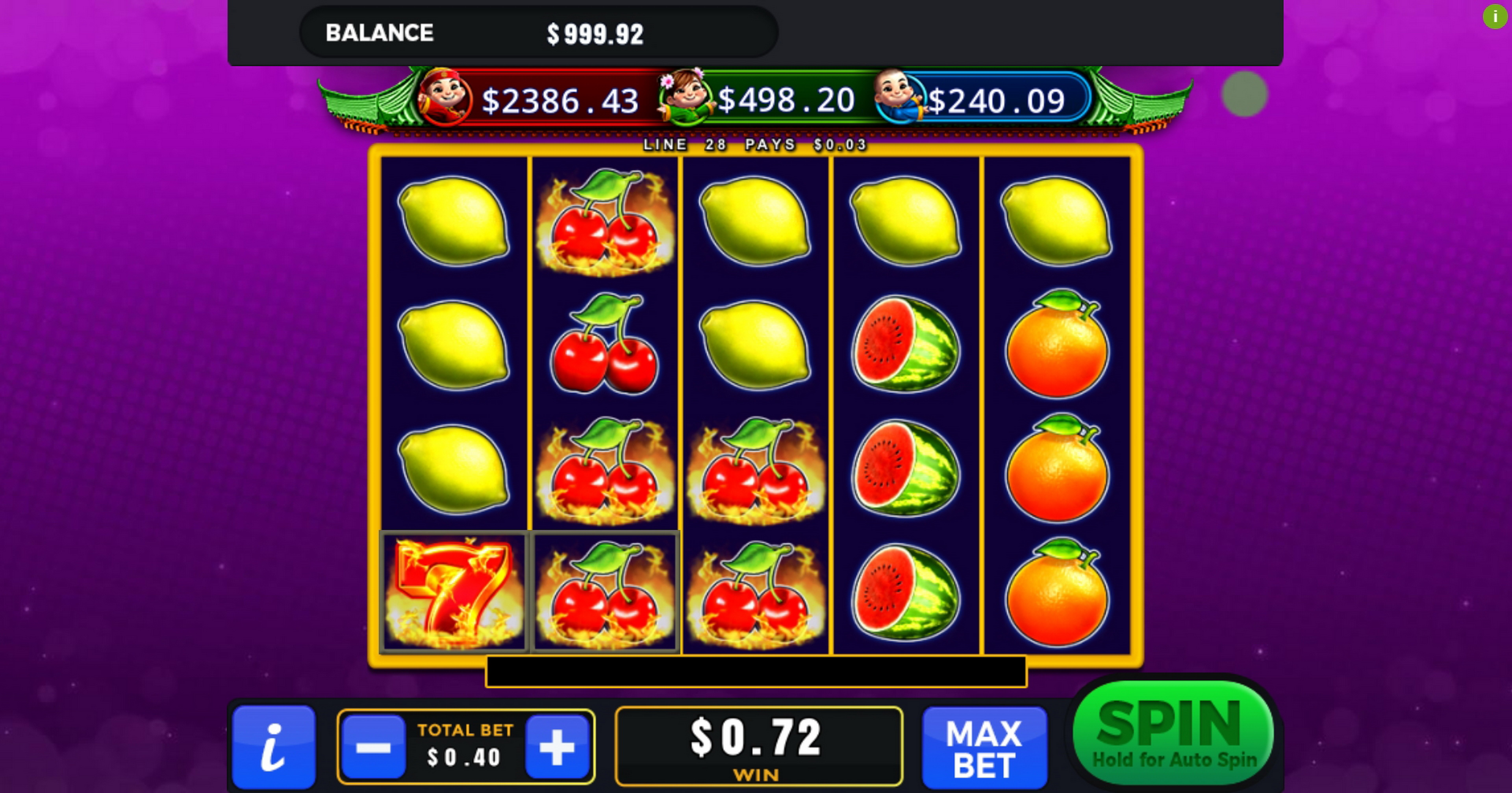 Win Money in Super Fruits (GMW) Free Slot Game by GMW