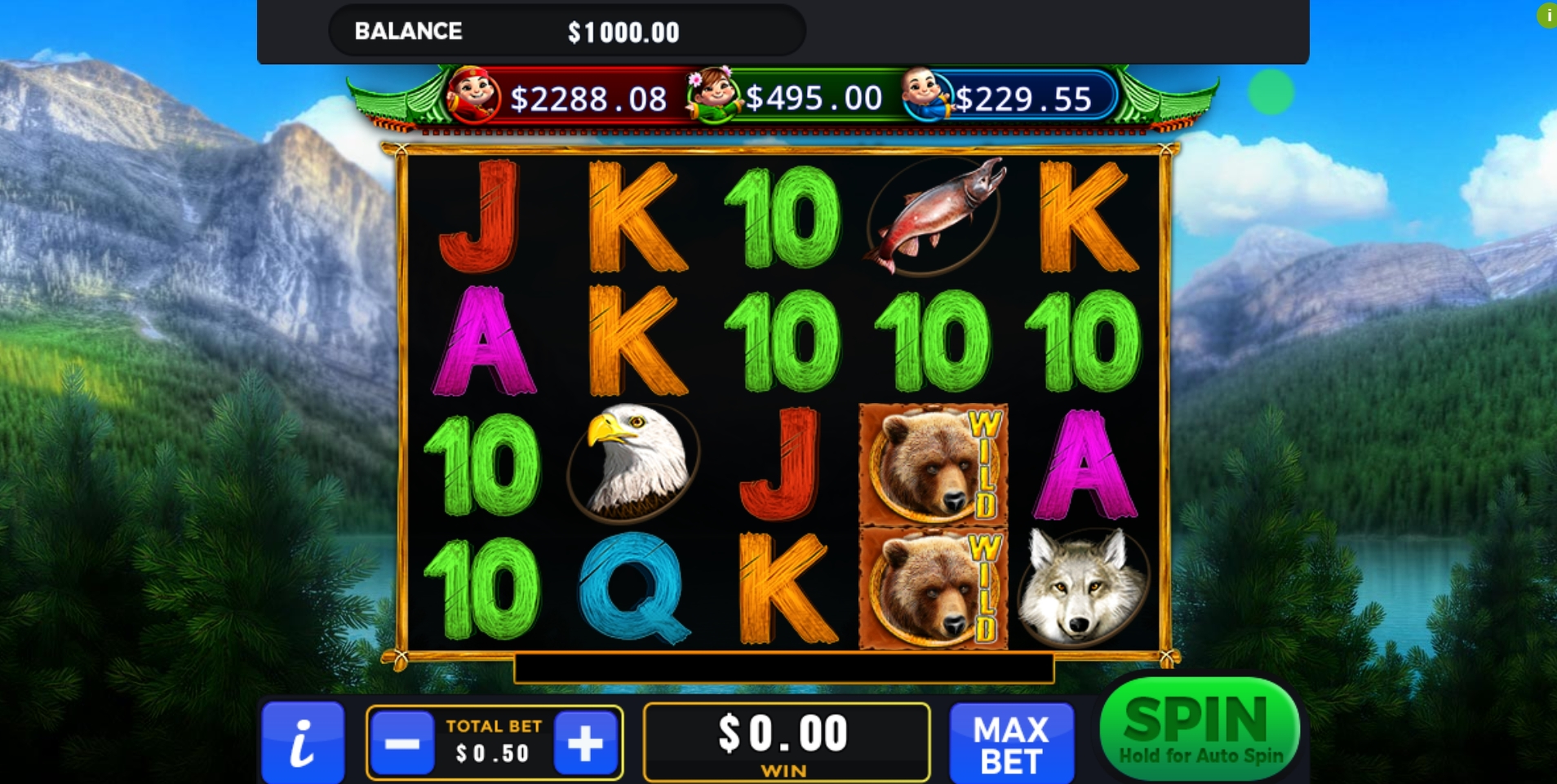 Reels in Wilderness Slot Game by GMW