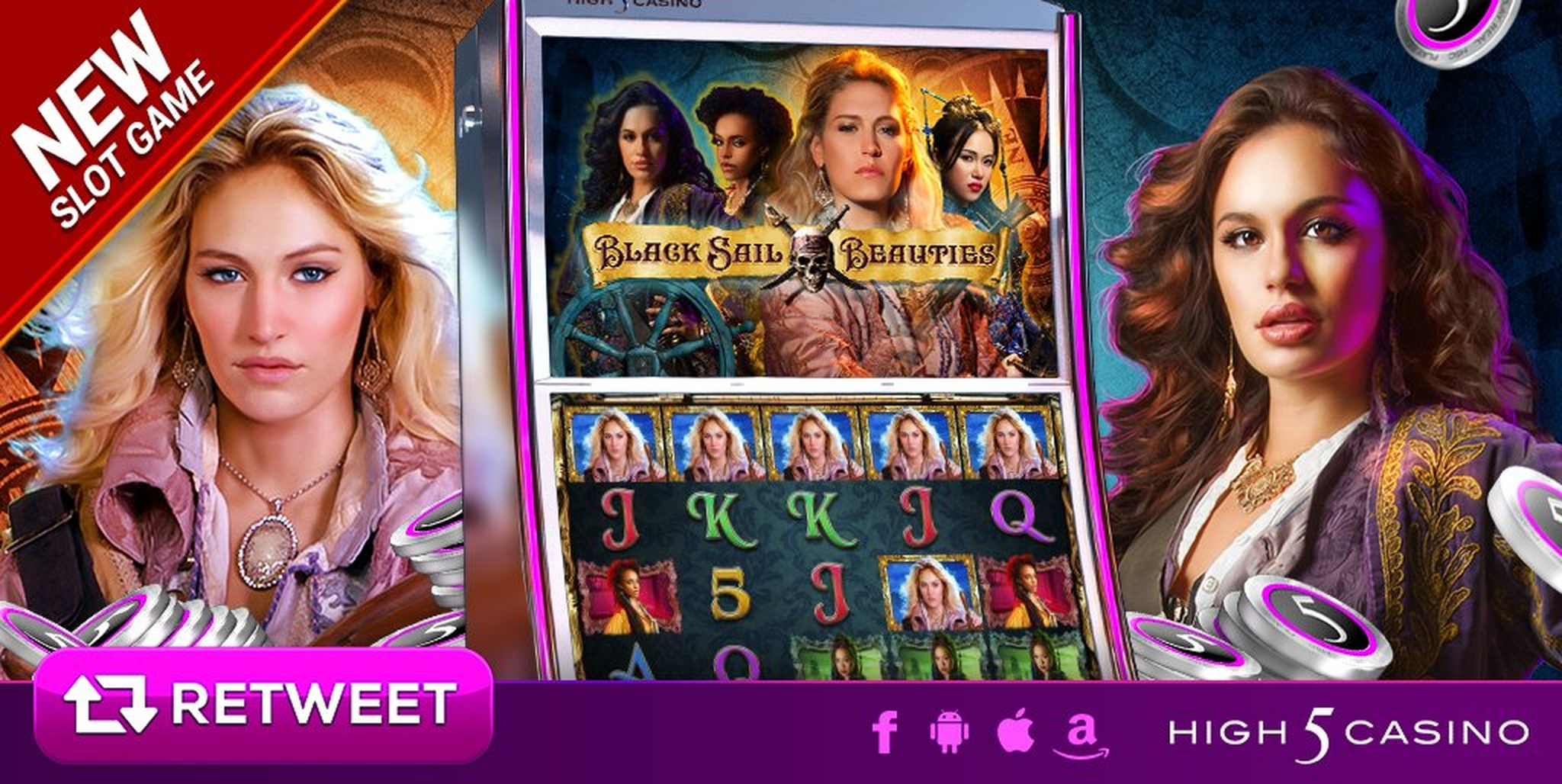 The Black Sail Beauties Online Slot Demo Game by High 5 Games