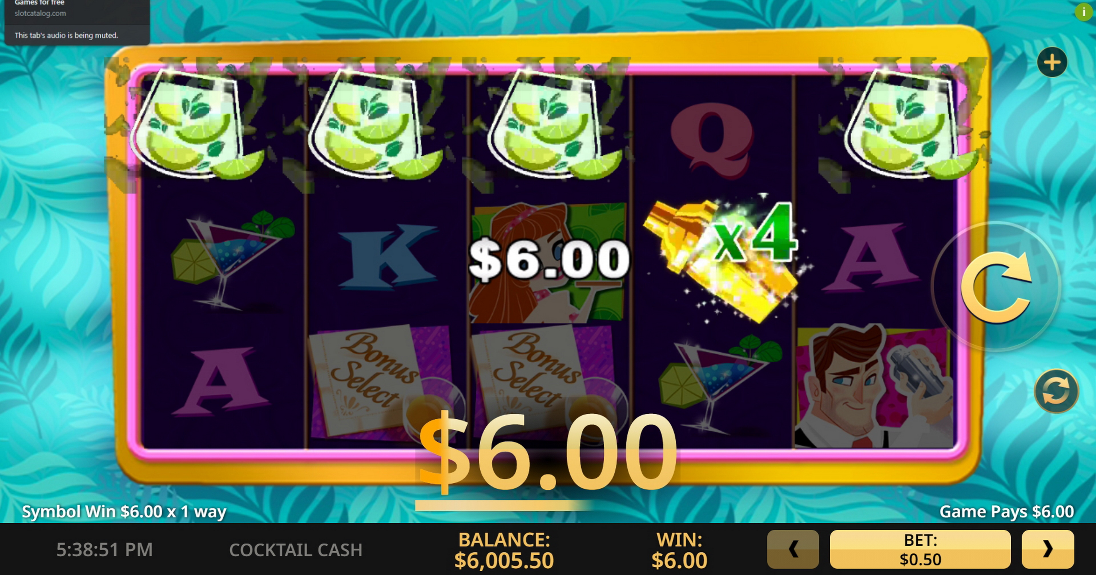 Win Money in Cocktail Cash Free Slot Game by High 5 Games