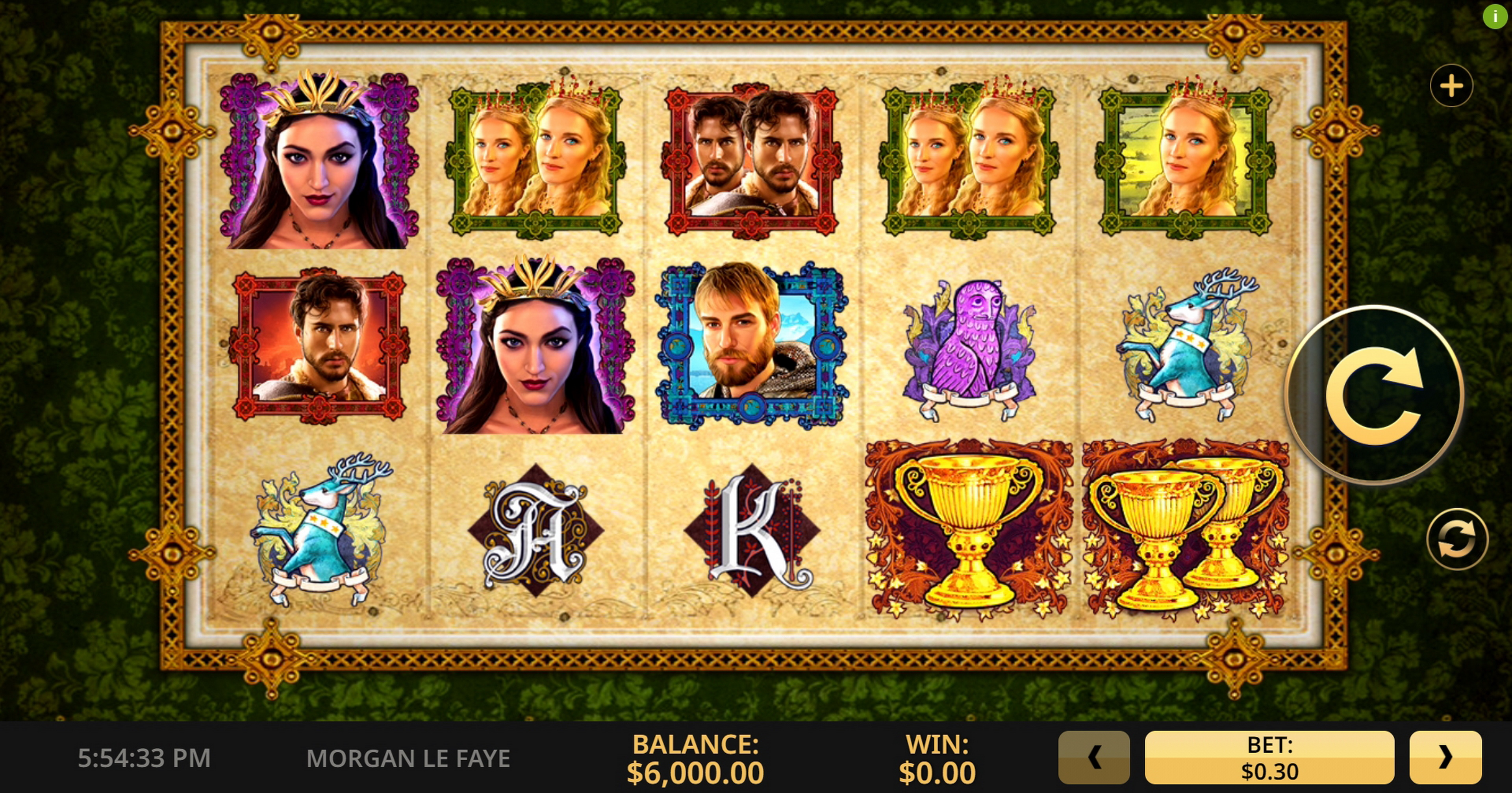 Reels in Morgan Le Faye Slot Game by High 5 Games