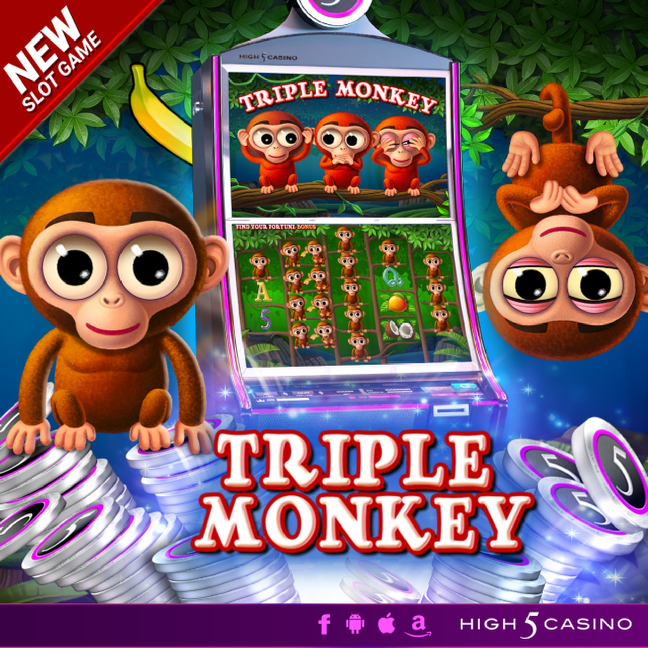 The Triple Monkey (High 5 Games) Online Slot Demo Game by High 5 Games