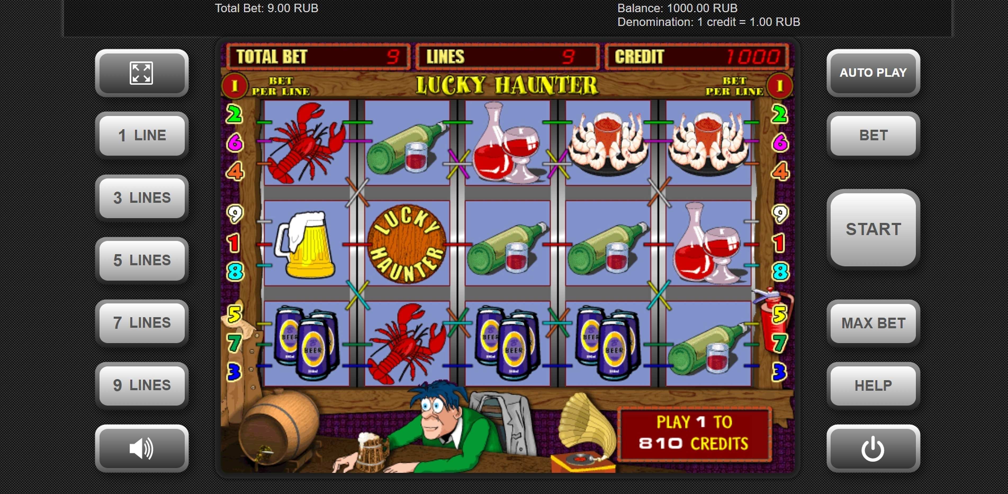 Reels in Lucky Haunter Slot Game by Igrosoft