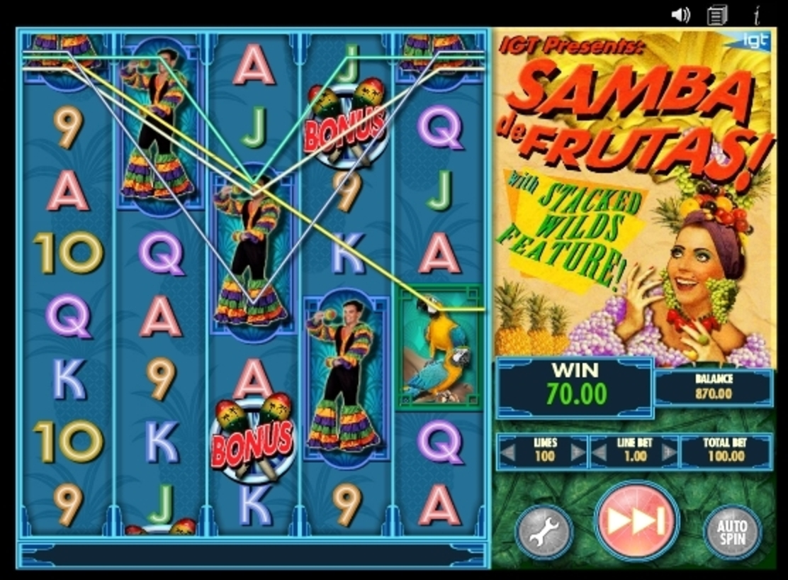 Win Money in Samba De Frutas Free Slot Game by IGT