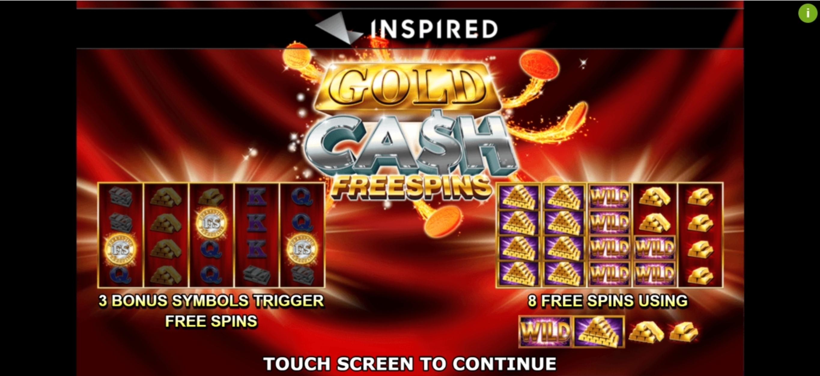 Play Gold Cash Free Spins Free Casino Slot Game by Inspired Gaming