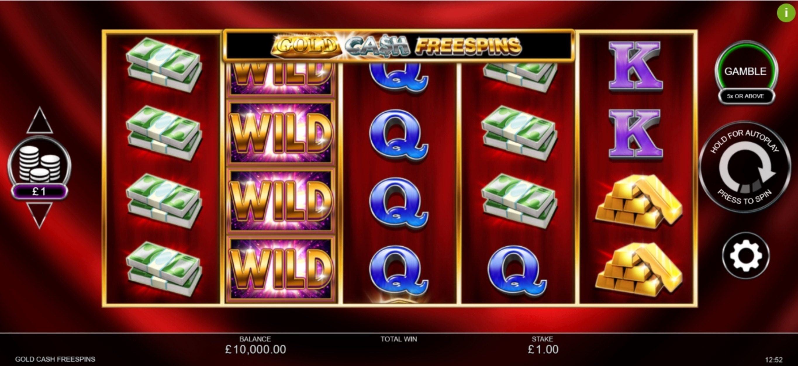 Reels in Gold Cash Free Spins Slot Game by Inspired Gaming