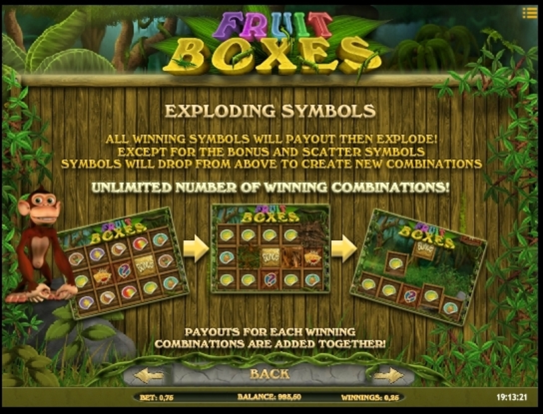 Info of Fruit Boxes Slot Game by iSoftBet