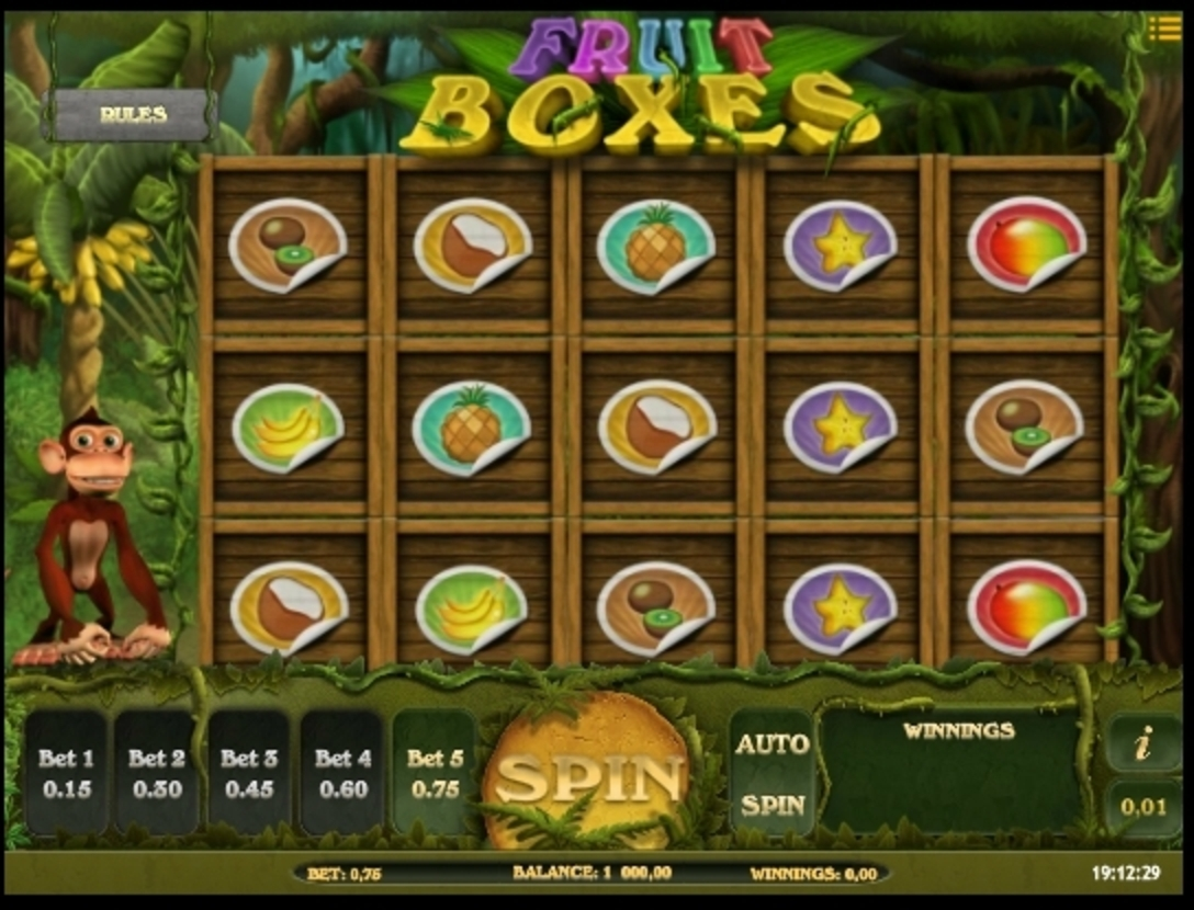 Reels in Fruit Boxes Slot Game by iSoftBet