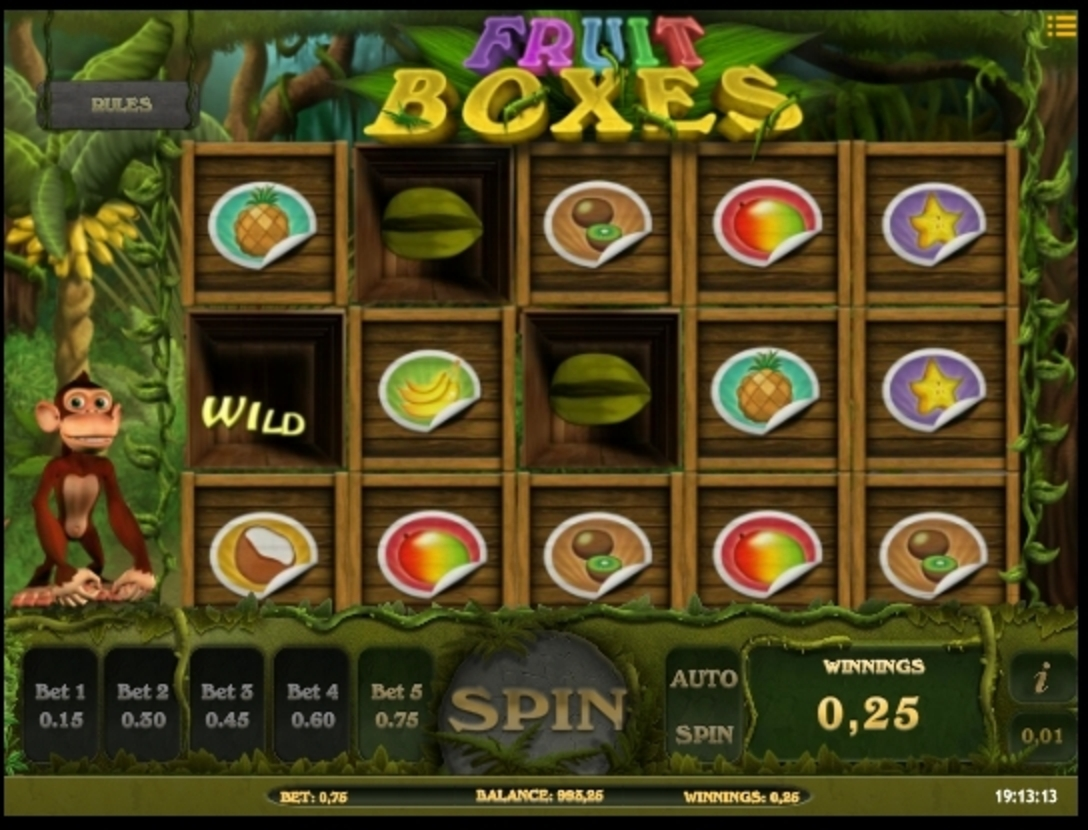 Win Money in Fruit Boxes Free Slot Game by iSoftBet