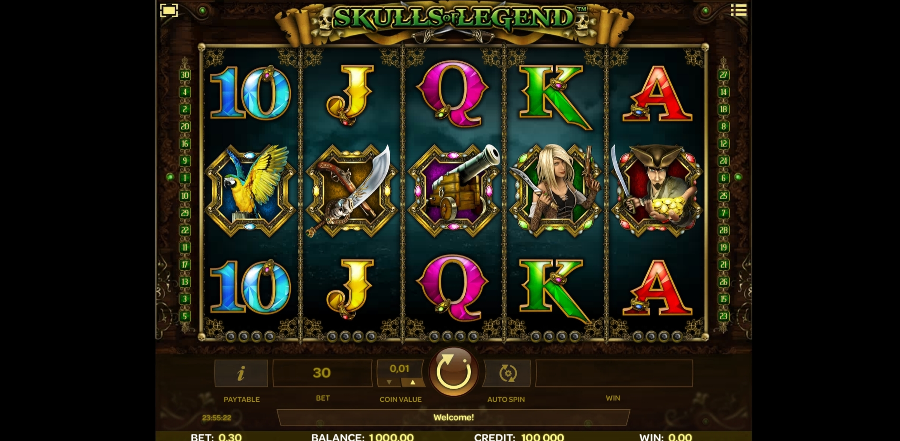 Reels in Skulls of Legend Slot Game by iSoftBet
