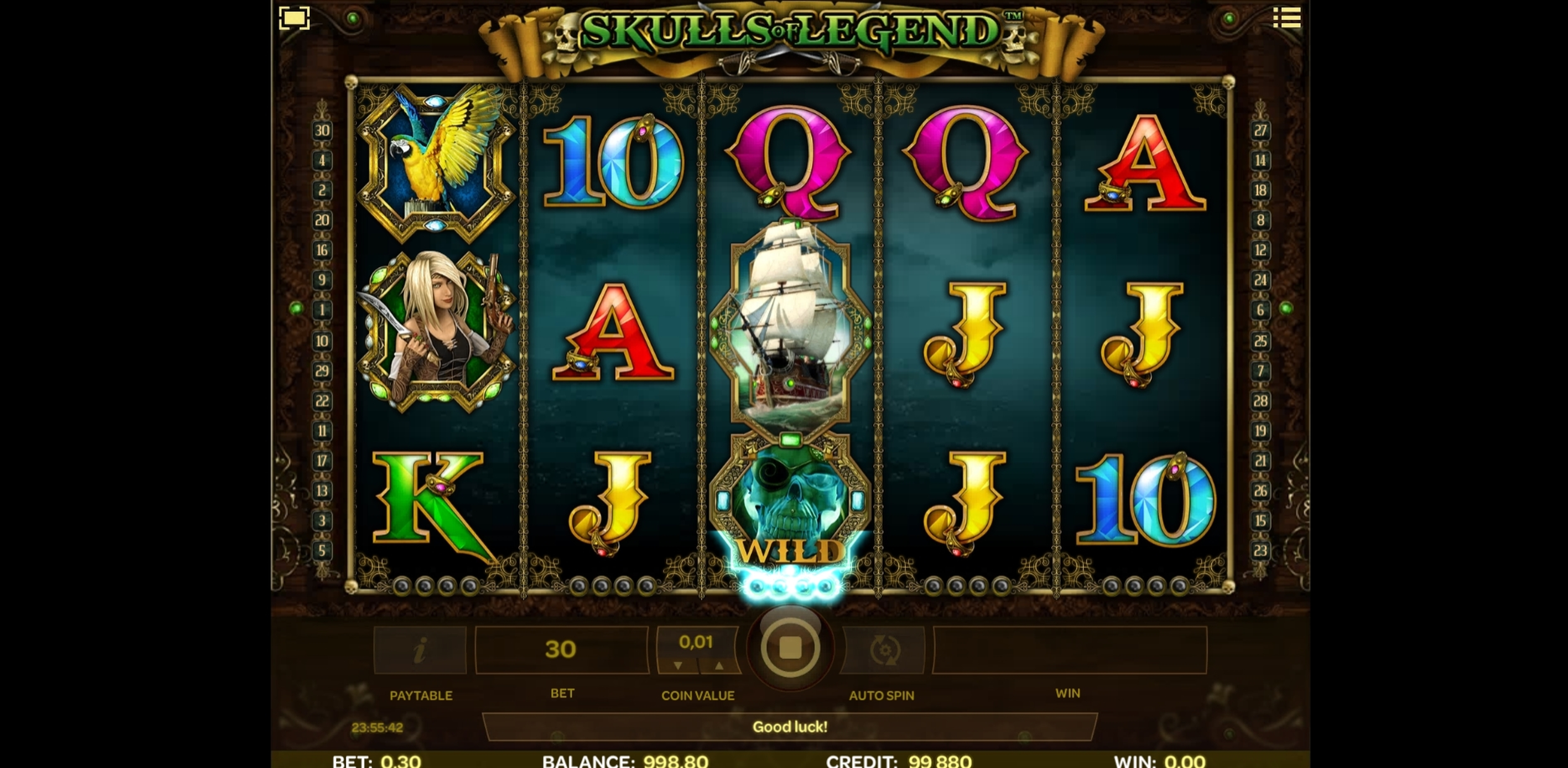 Win Money in Skulls of Legend Free Slot Game by iSoftBet