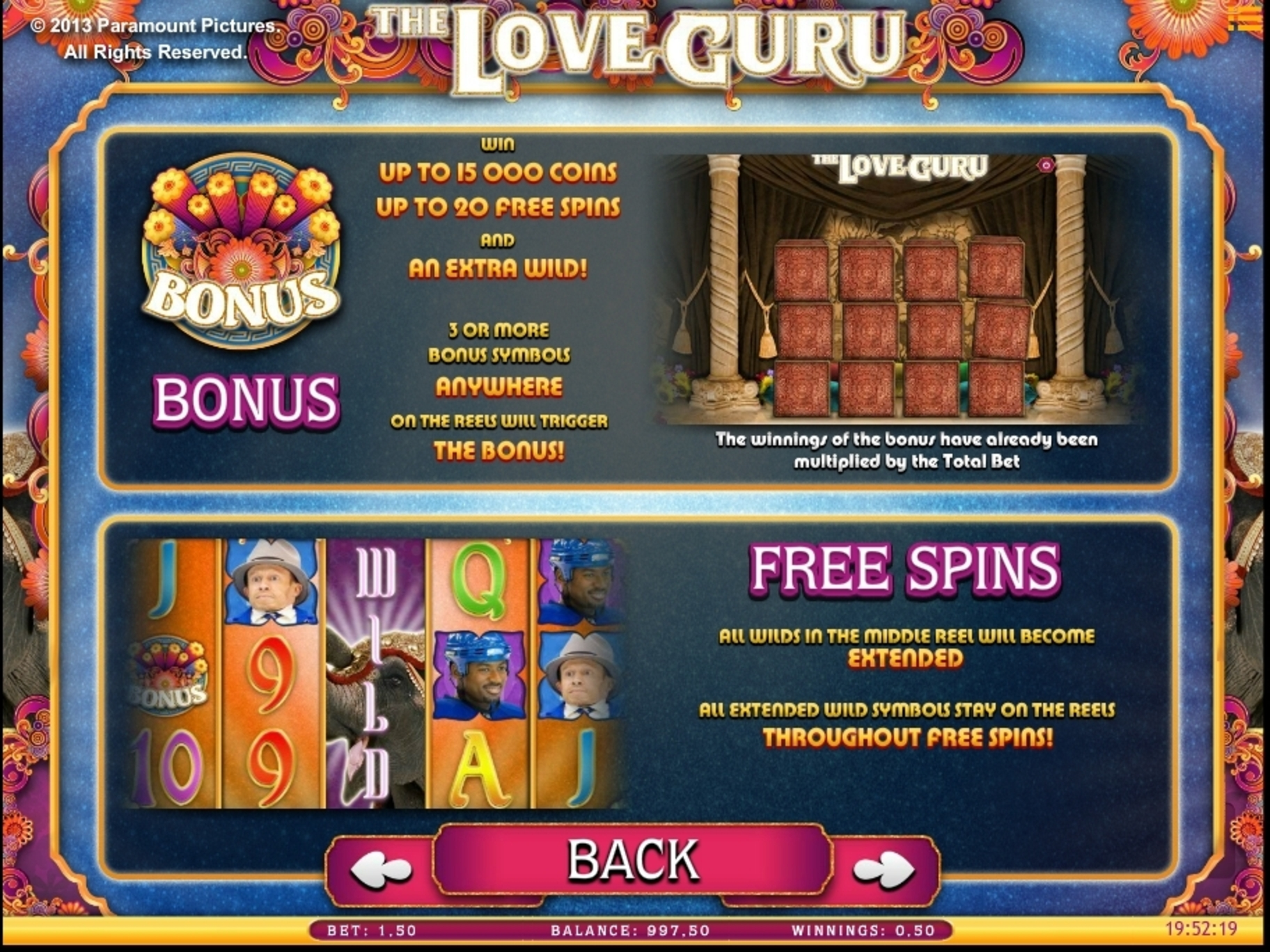 Info of The Love Guru Slot Game by iSoftBet