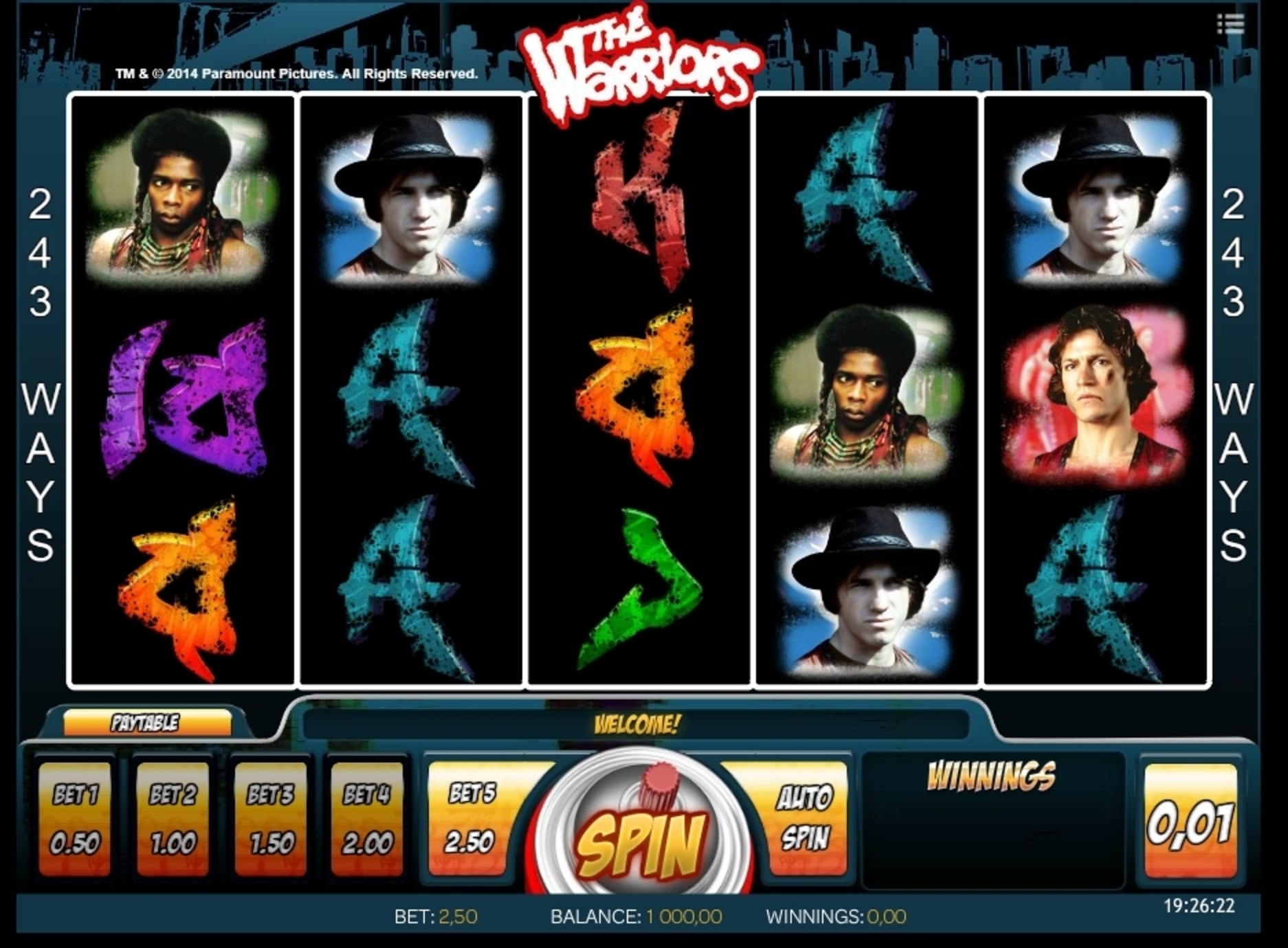 Reels in The Warriors Slot Game by iSoftBet