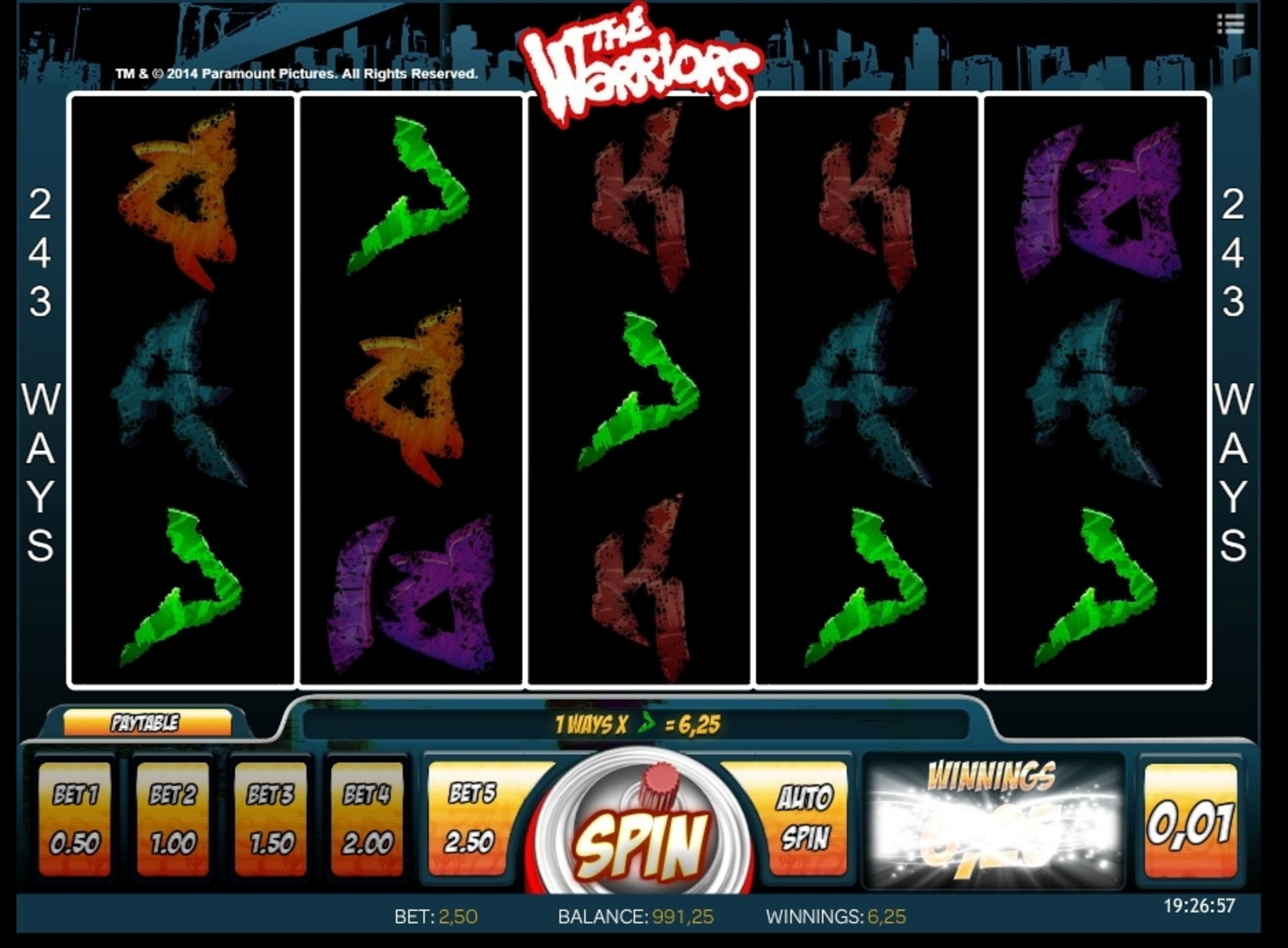 Win Money in The Warriors Free Slot Game by iSoftBet