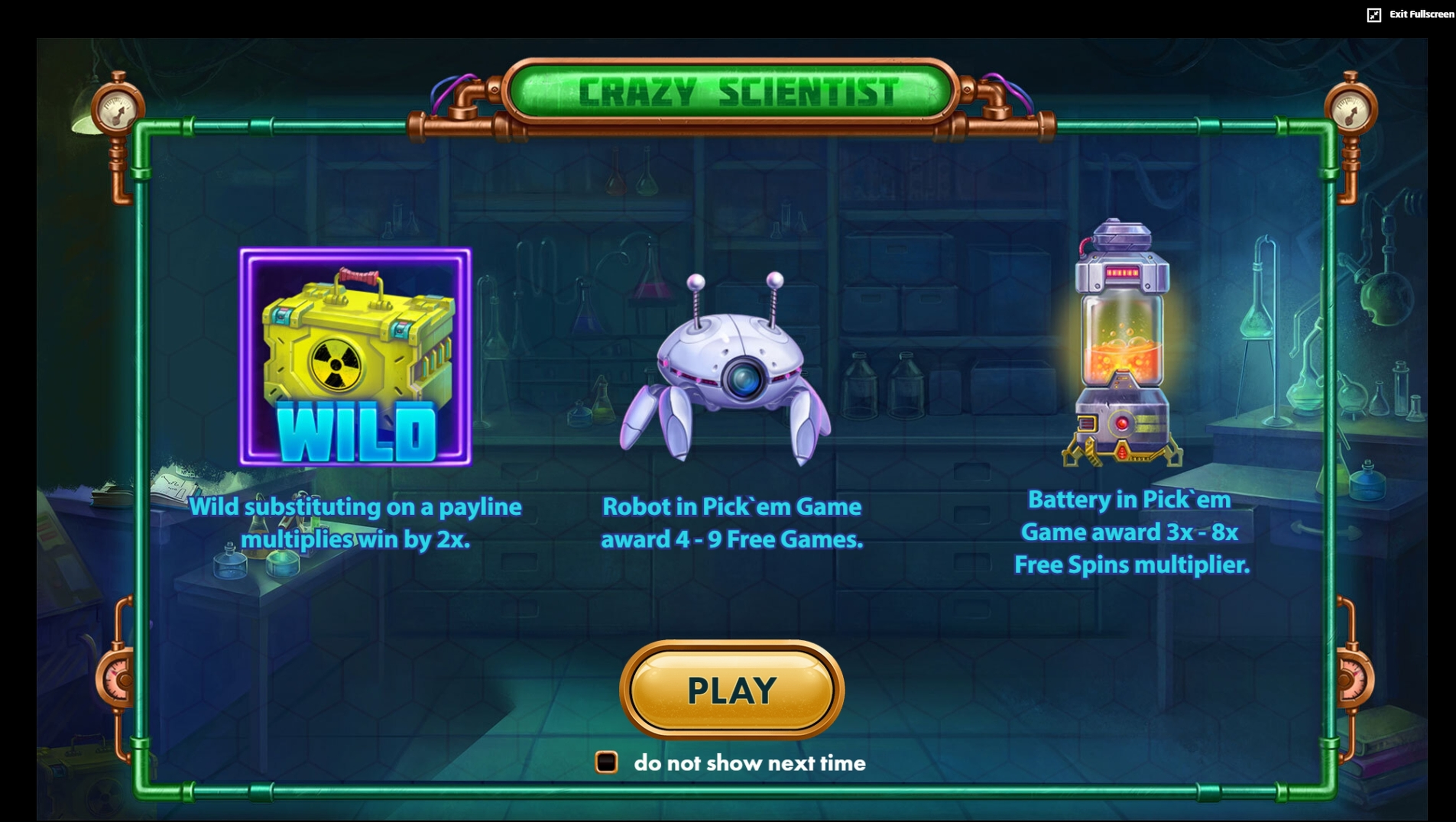 Play Crazy Scientist (Jumbo Games) Free Casino Slot Game by Jumbo Games