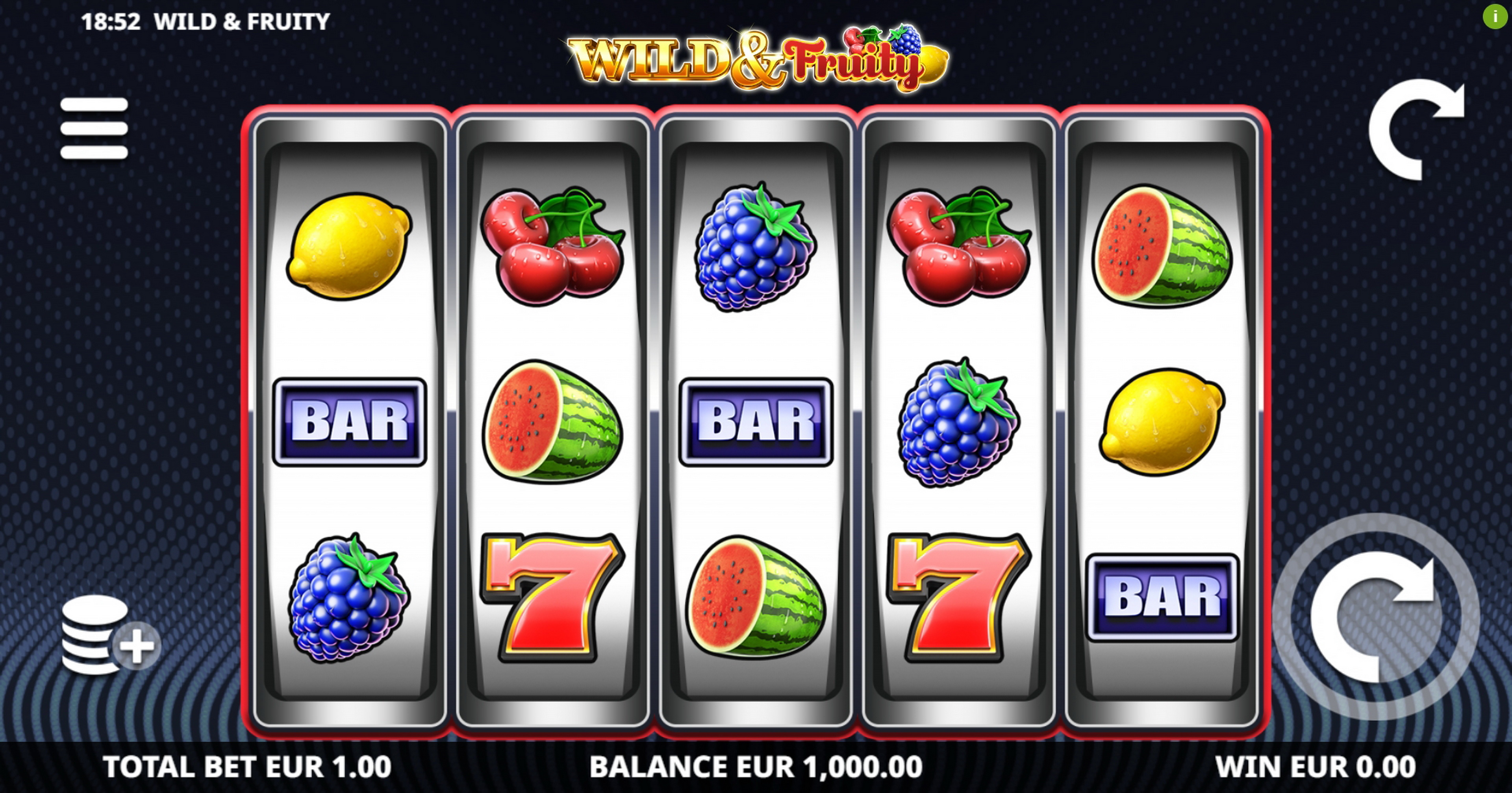 Reels in Wild and Fruity Slot Game by Leander Games
