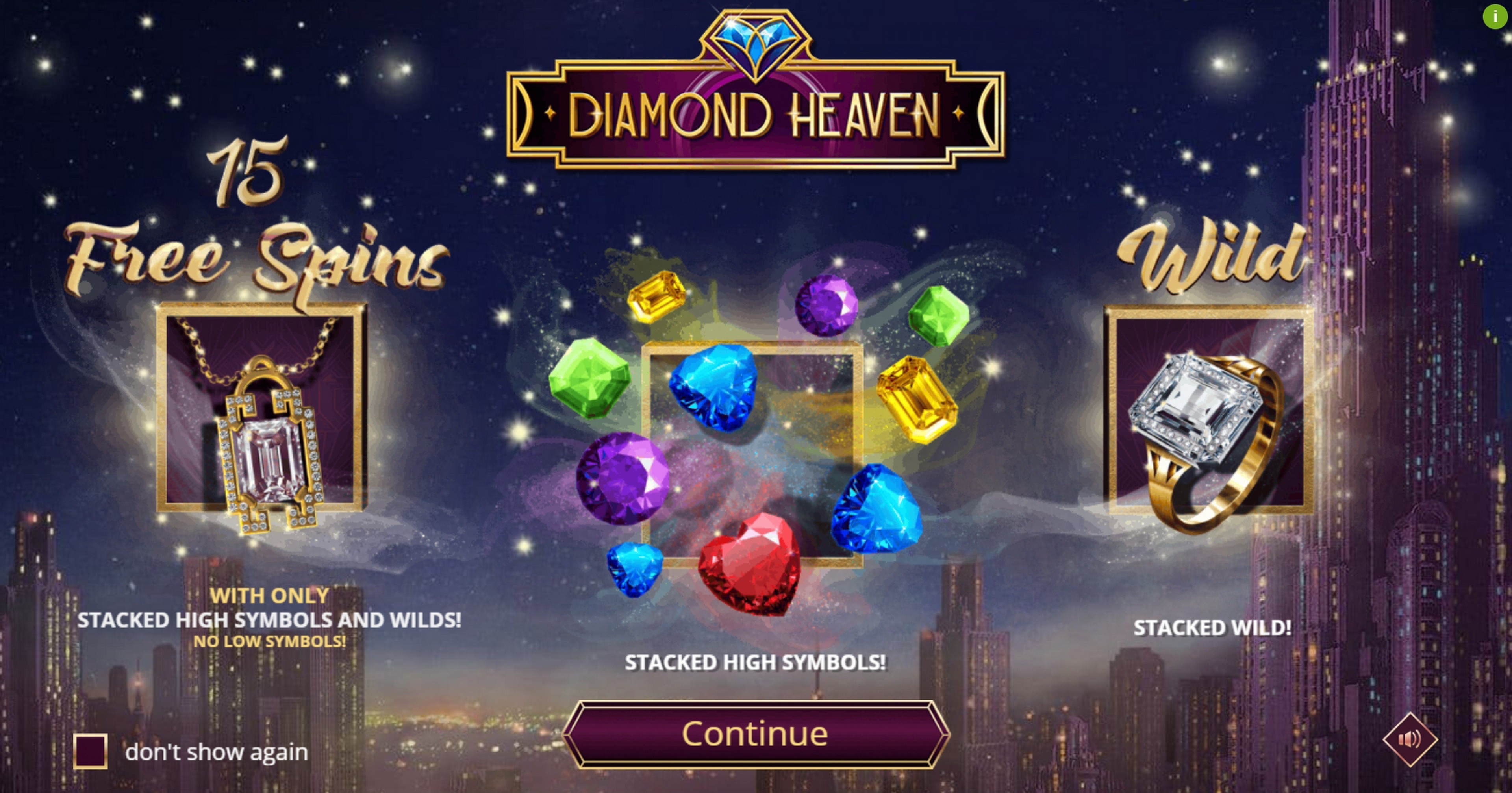 Play Diamond Heaven Free Casino Slot Game by Leap Gaming