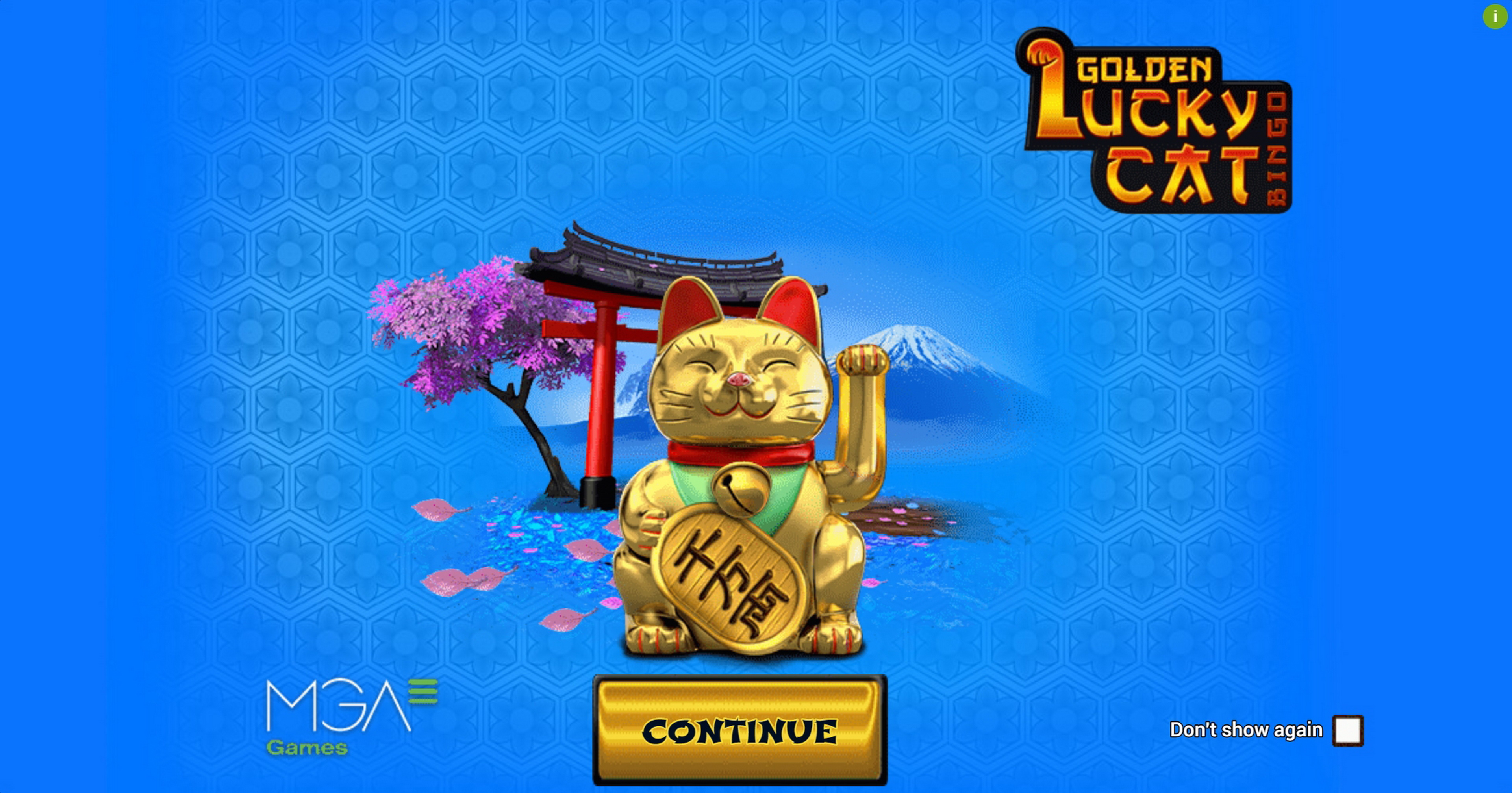 Play Golden Lucky Cat Bingo Free Casino Slot Game by MGA