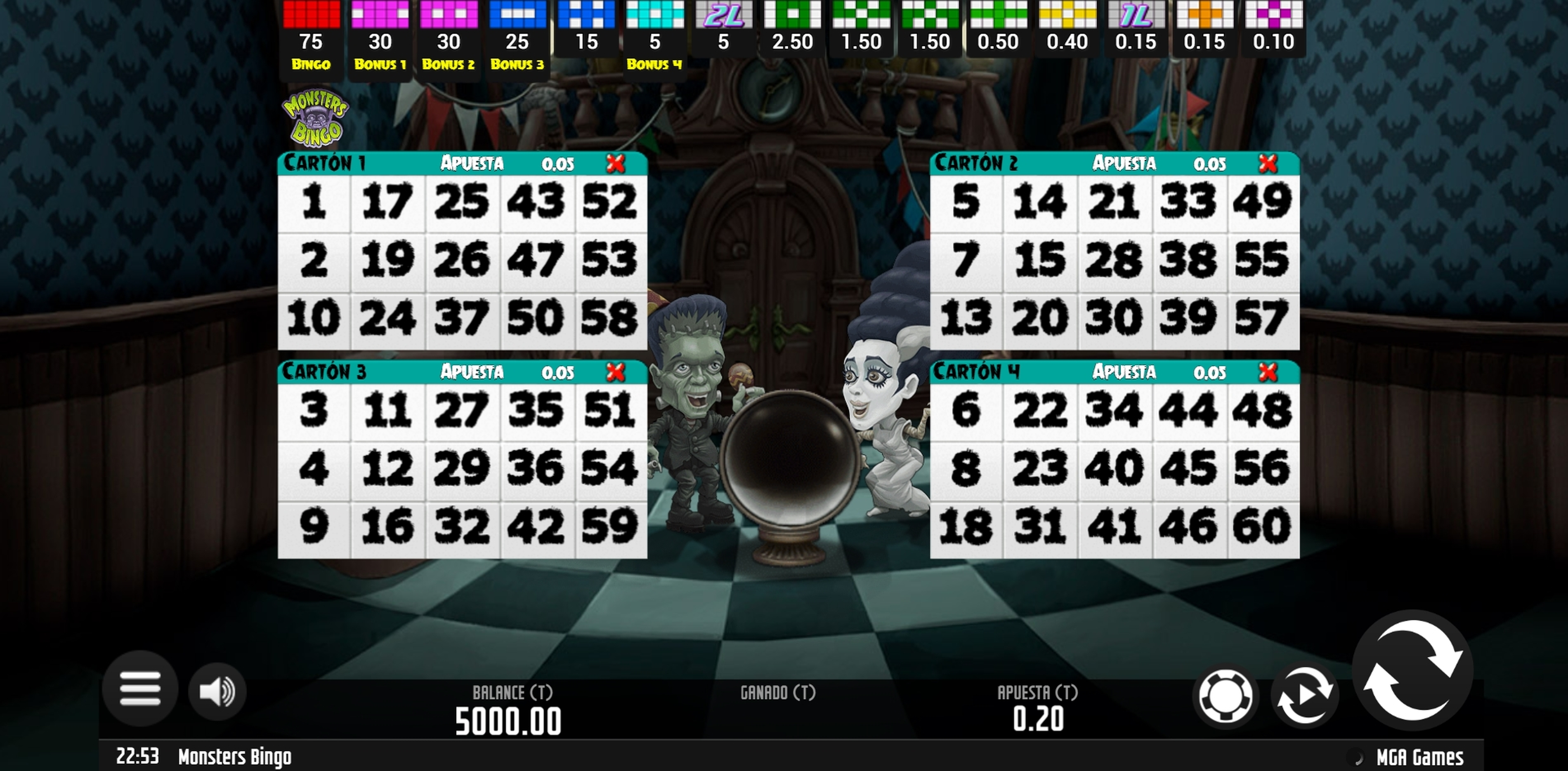 Reels in Monsters Bingo Slot Game by MGA