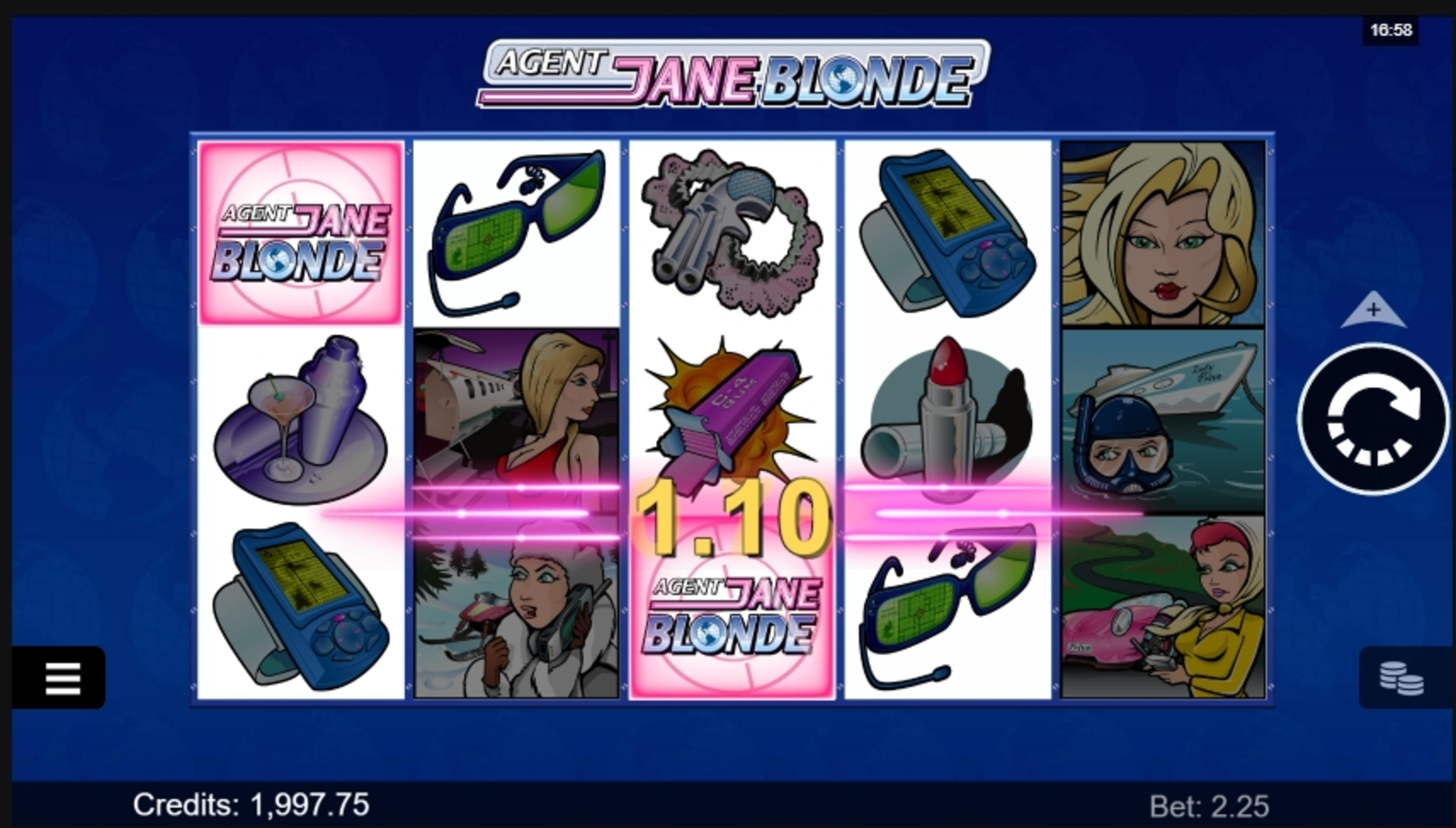Win Money in Agent Jane Blonde Free Slot Game by Microgaming