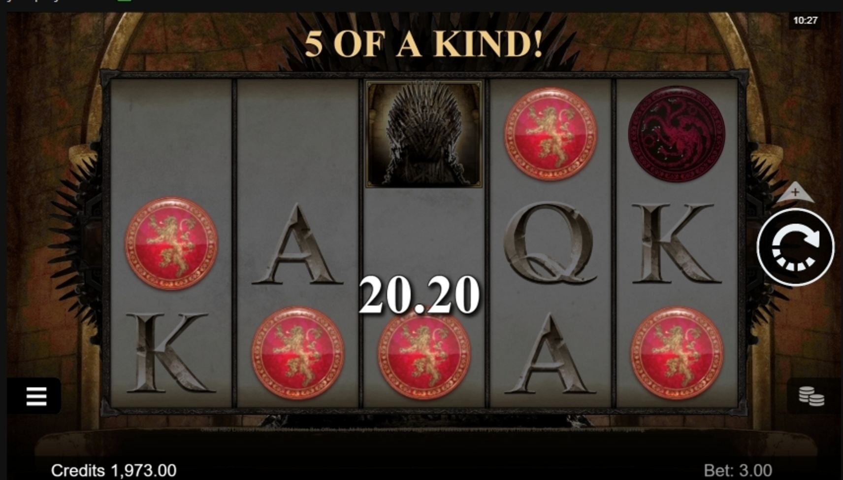 Win Money in Game of Thrones 243 Ways Free Slot Game by Microgaming