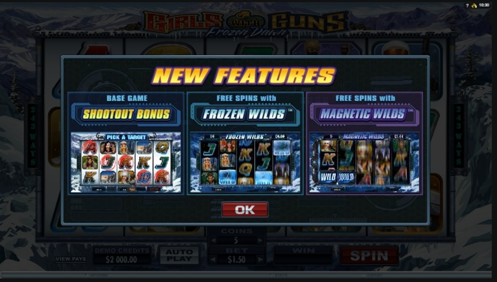 Play Girls With Guns - Frozen Dawn Free Casino Slot Game by Microgaming
