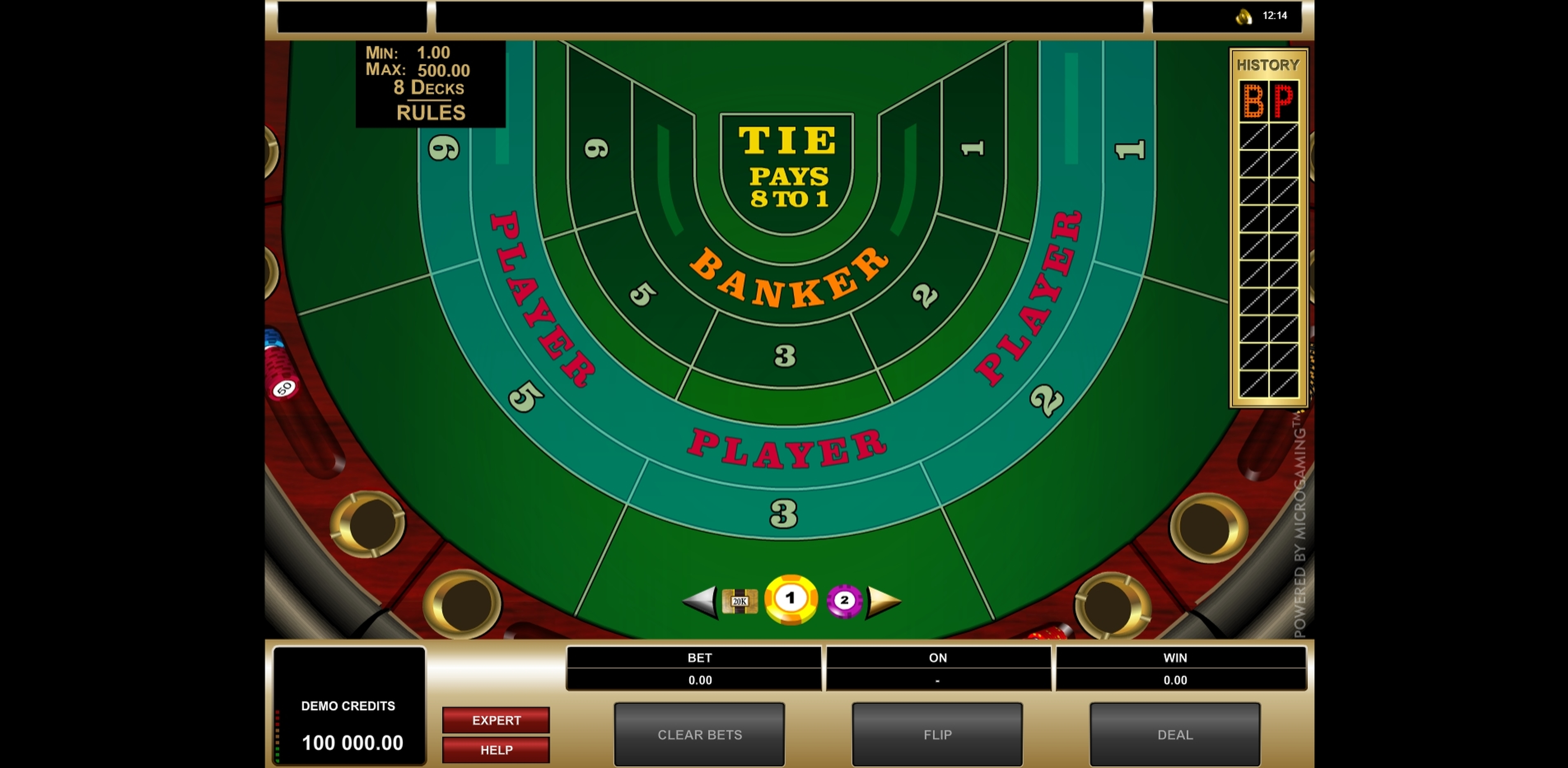 Reels in High Limit Baccarat (Microgaming) Slot Game by Microgaming