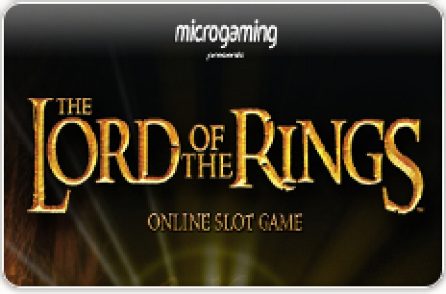The Lord of the Rings Jackpot Online Slot Demo Game by Microgaming