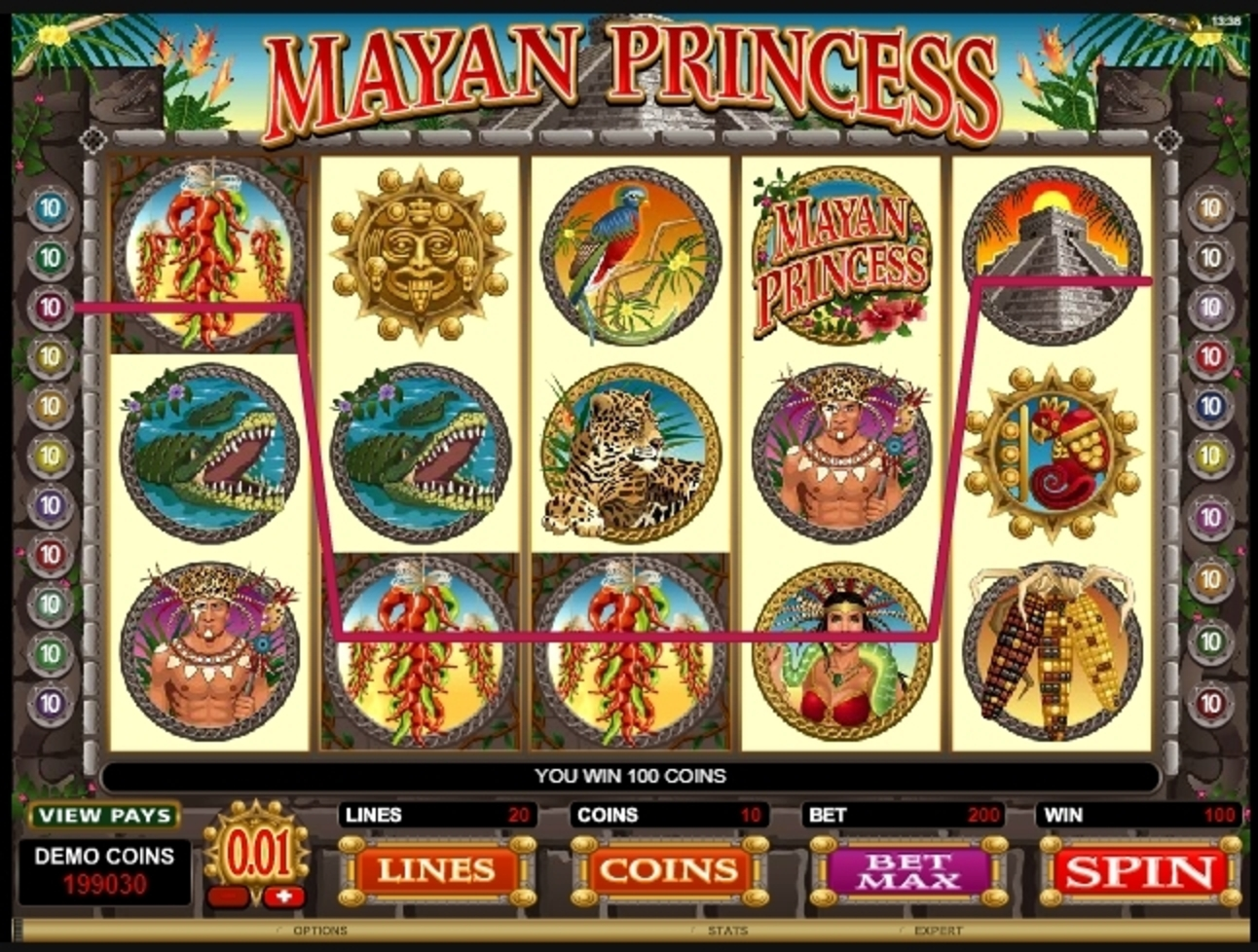 Win Money in Mayan Princess Free Slot Game by Microgaming