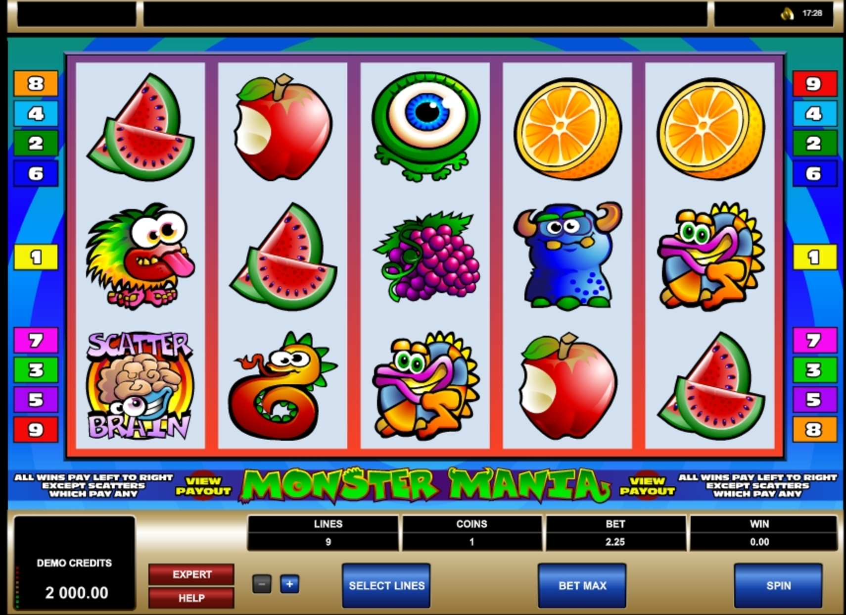 Reels in Monster Mania Slot Game by Microgaming
