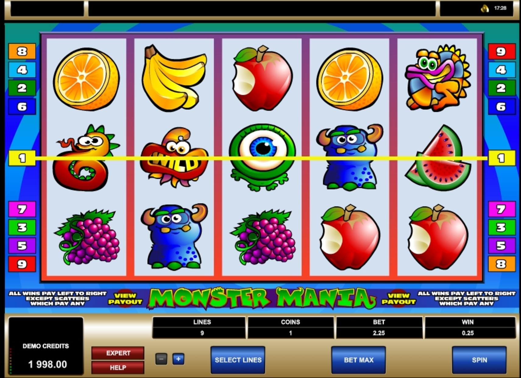 Win Money in Monster Mania Free Slot Game by Microgaming