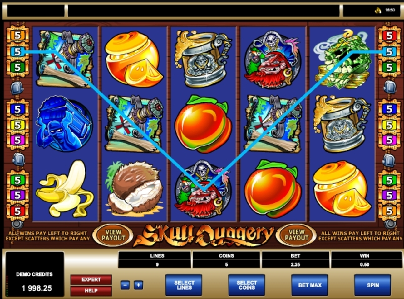 Win Money in Skull Duggery Free Slot Game by Microgaming