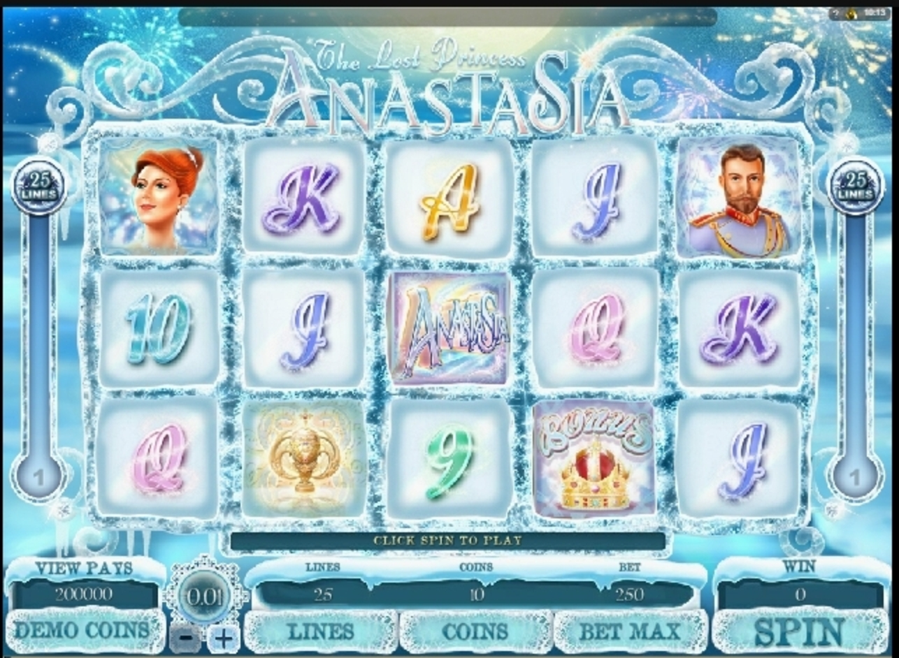 Reels in The Lost Princess Anastasia Slot Game by Microgaming