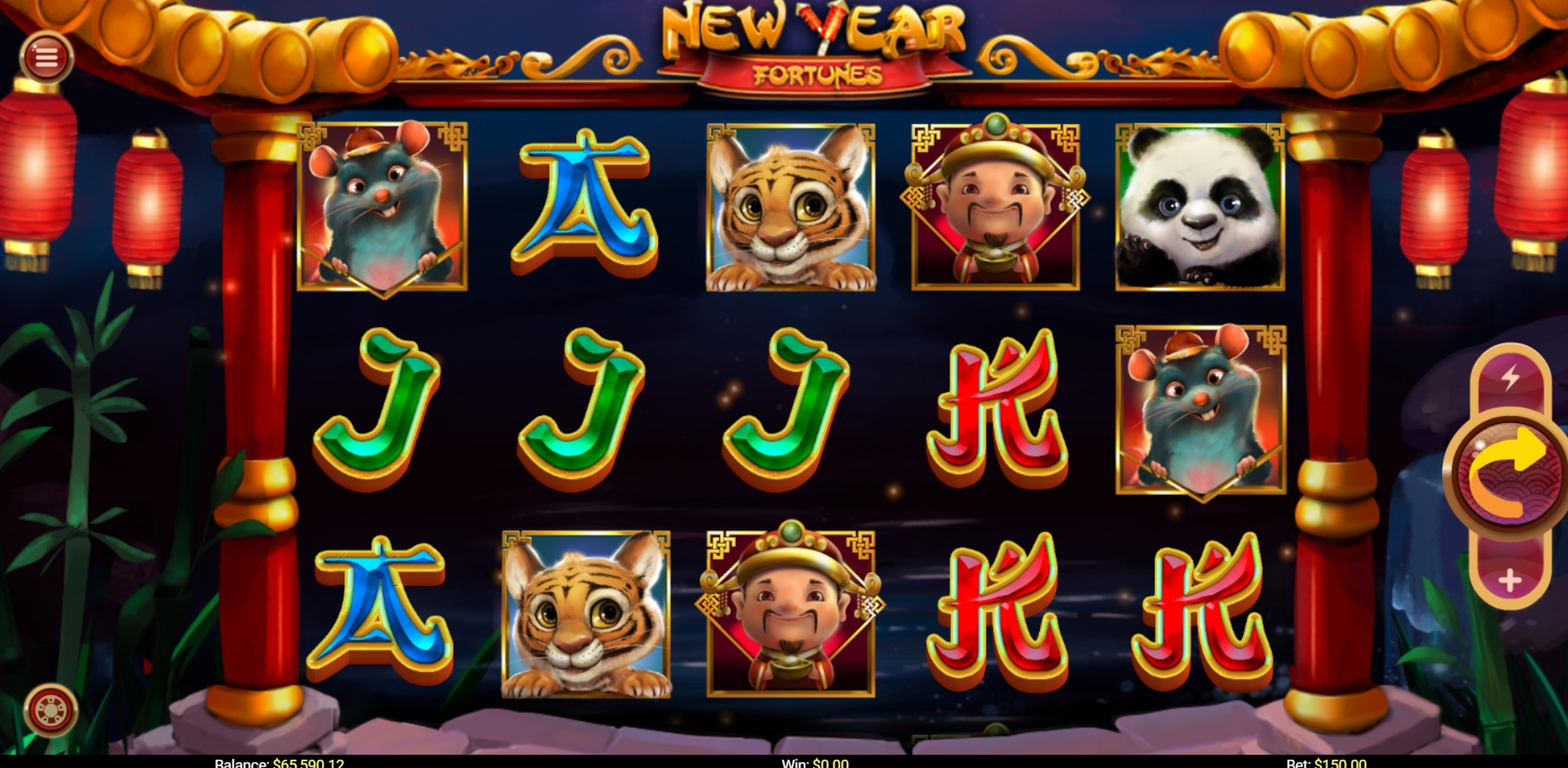 Reels in New Year Fortunes Slot Game by Mobilots