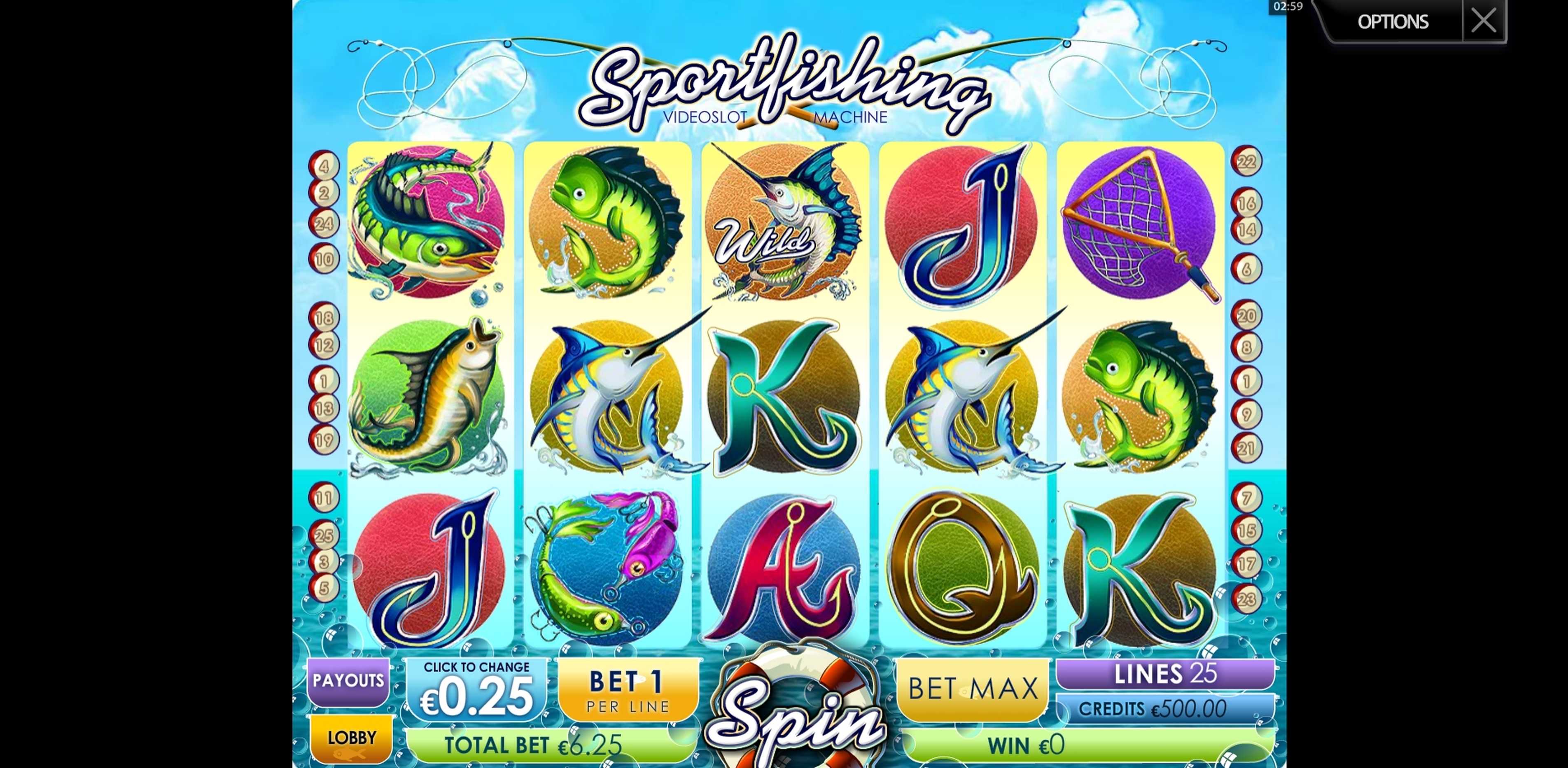 Reels in Sportsfishing Slot Game by Multislot