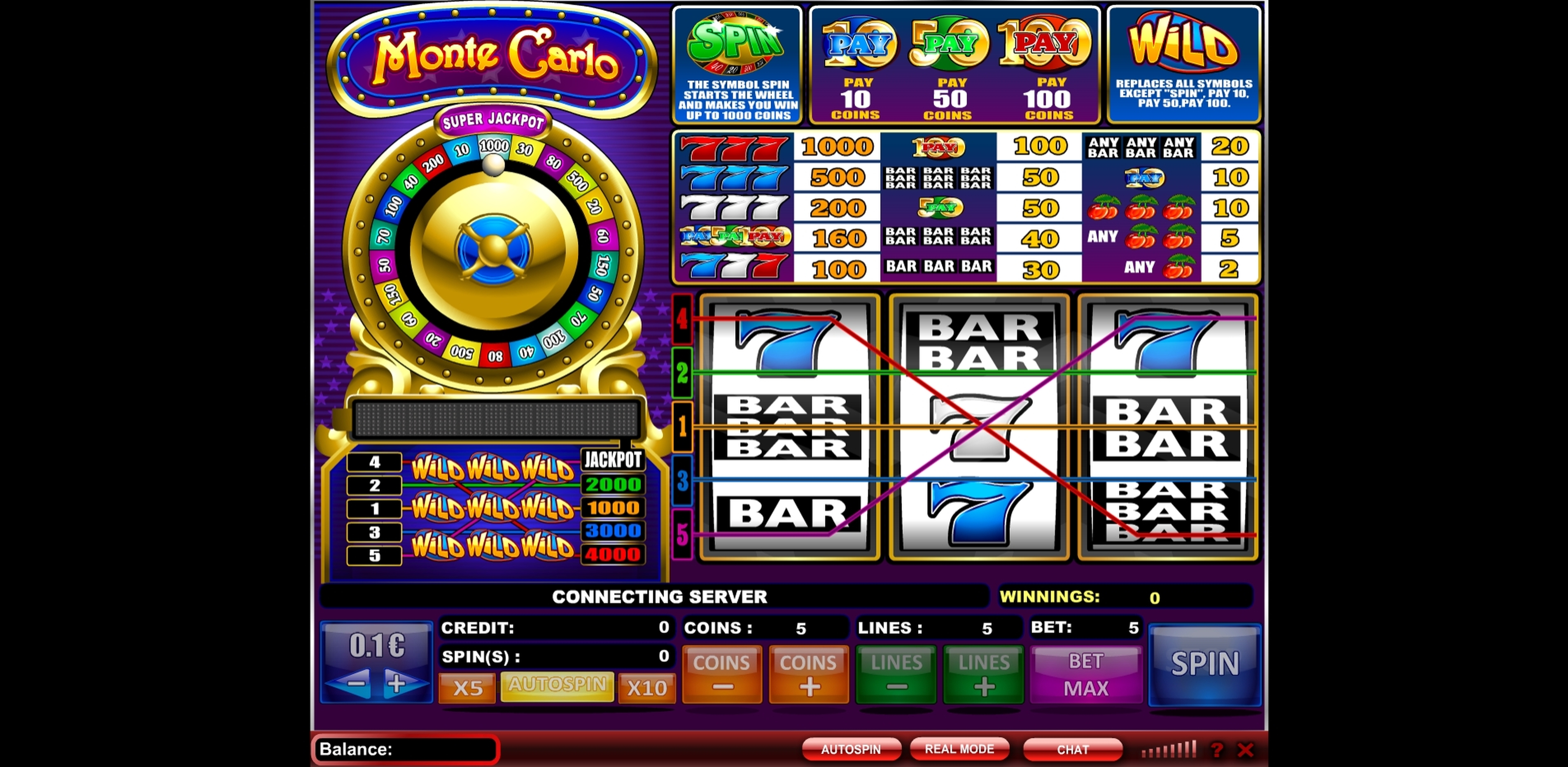 Reels in Monte Carlo (NeoGames) Slot Game by NeoGames