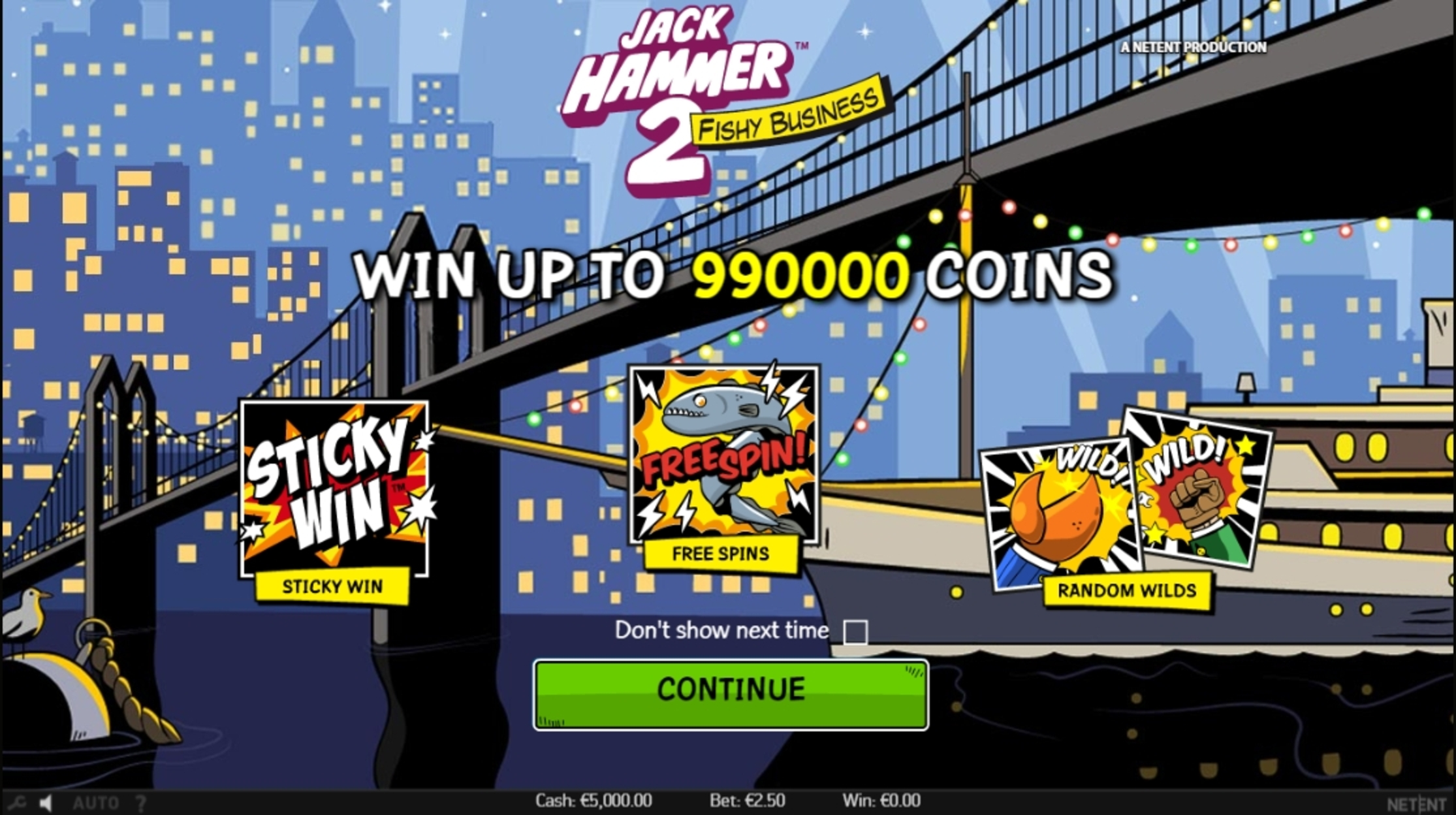 Play Jack Hammer 2 Free Casino Slot Game by NetEnt