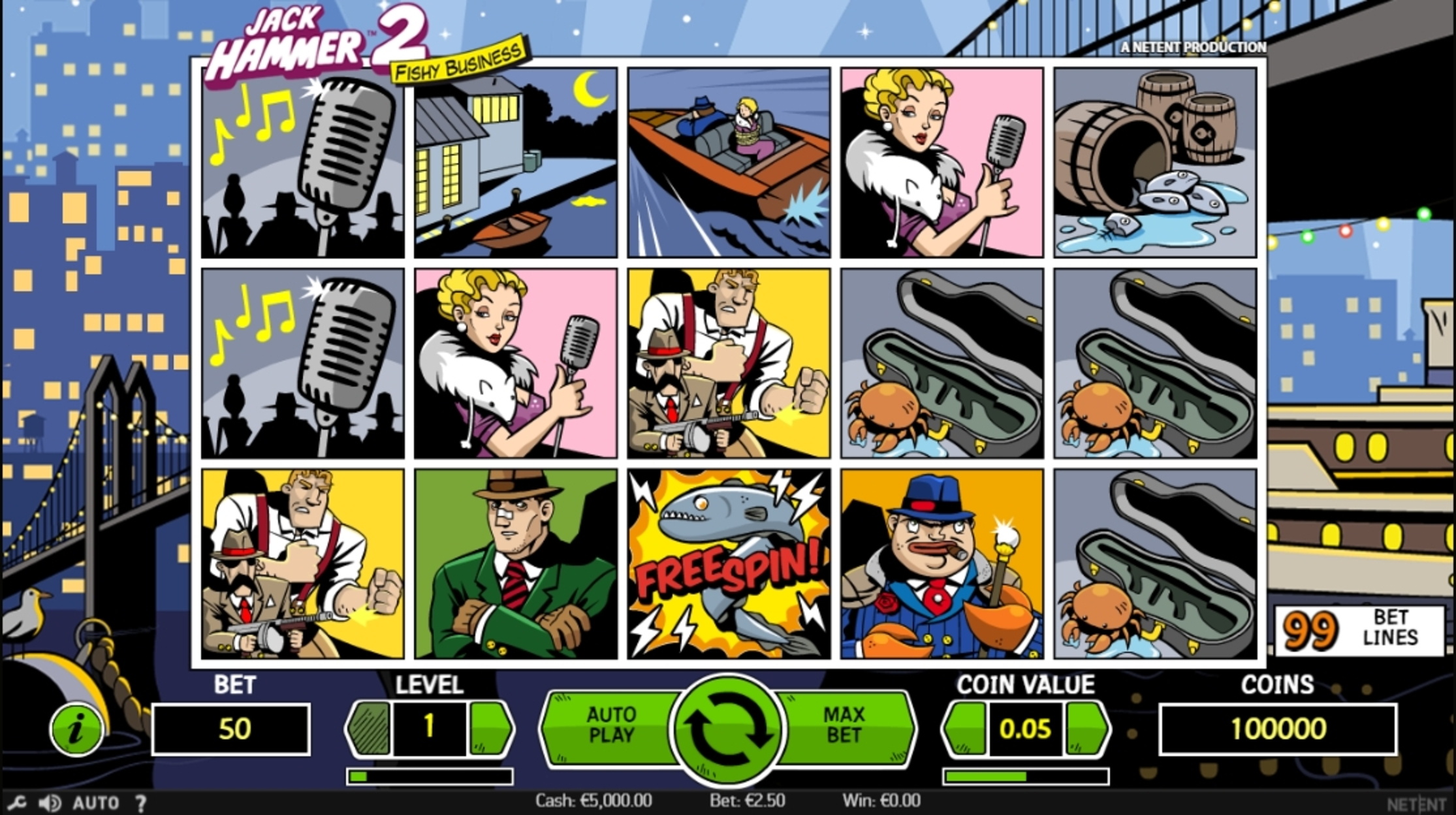 Reels in Jack Hammer 2 Slot Game by NetEnt