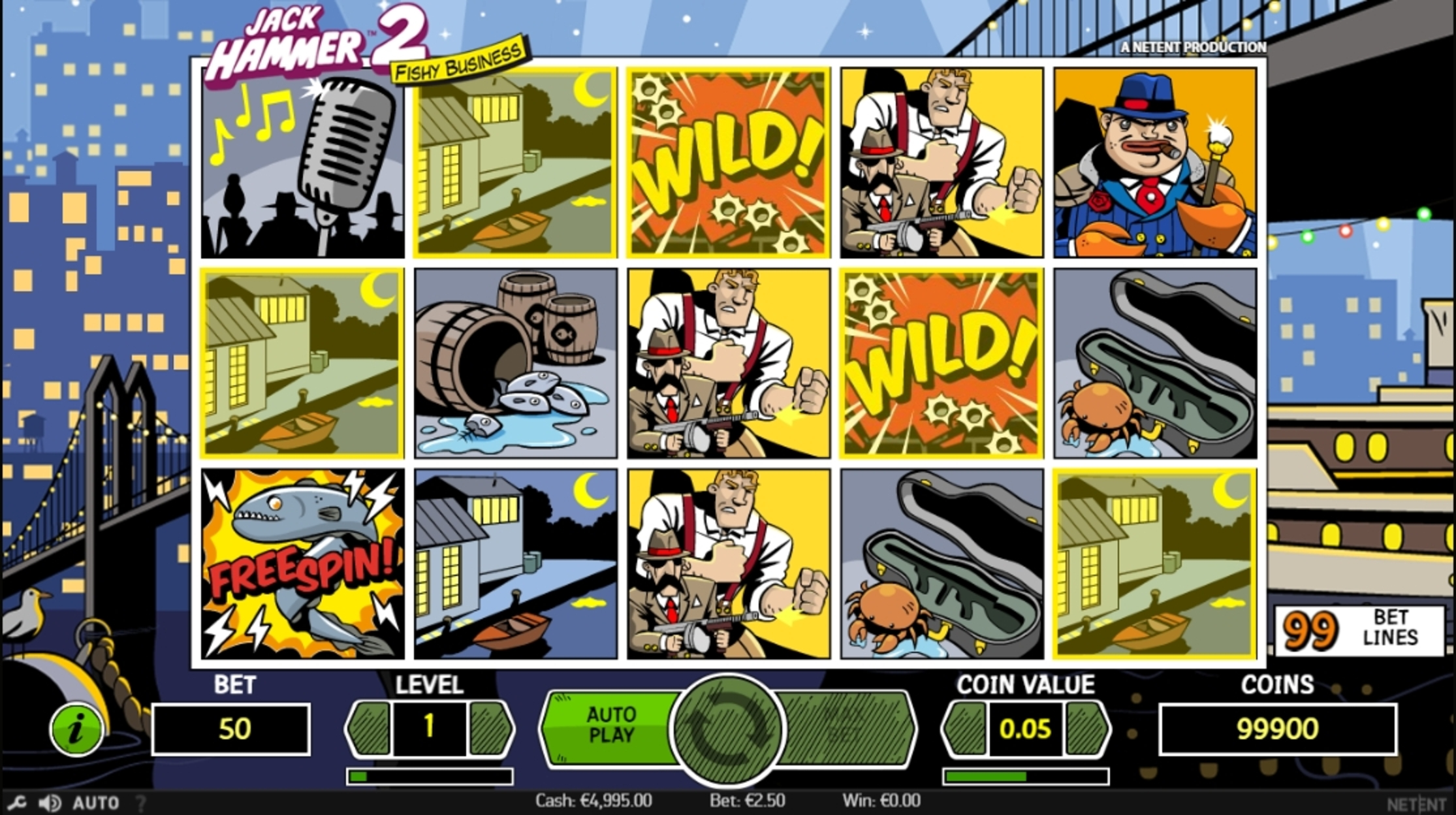 Win Money in Jack Hammer 2 Free Slot Game by NetEnt