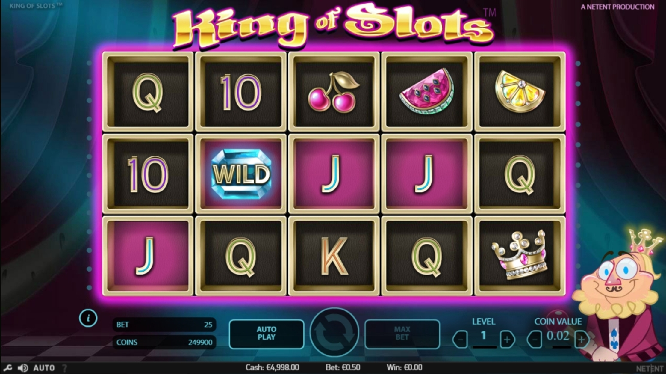 Win Money in King of Slots Free Slot Game by NetEnt