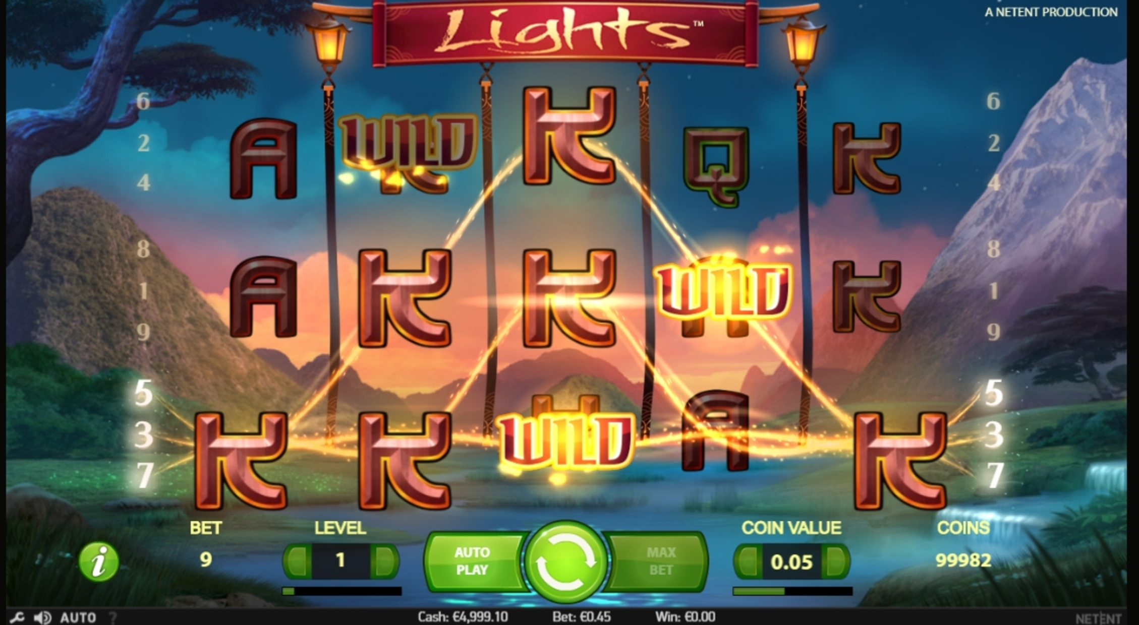 Win Money in Lights Free Slot Game by NetEnt