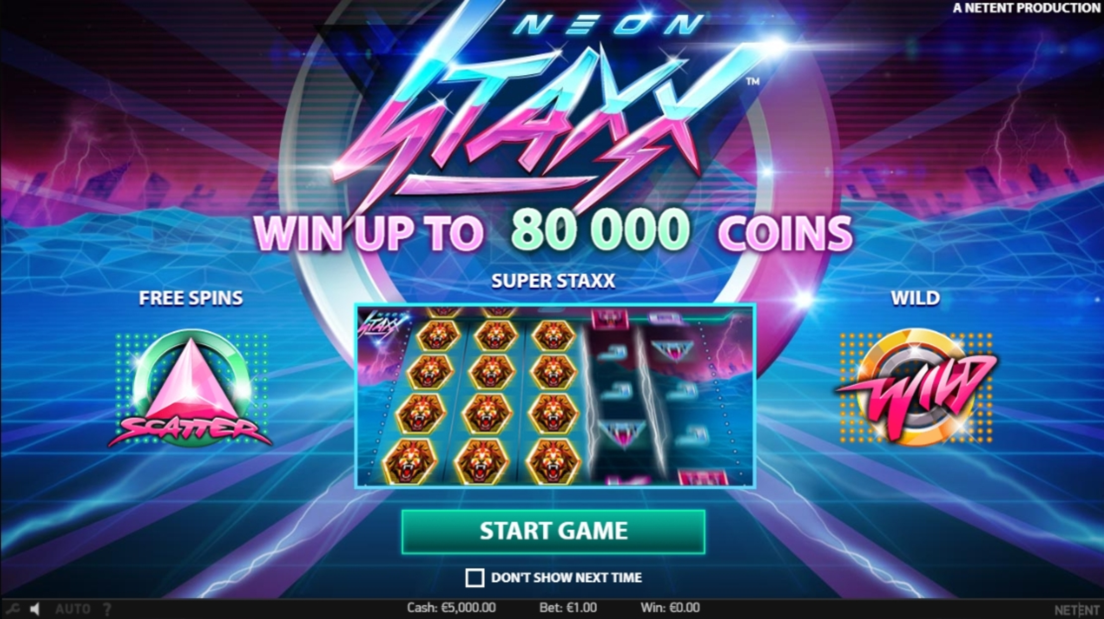 Play Neon Staxx Free Casino Slot Game by NetEnt